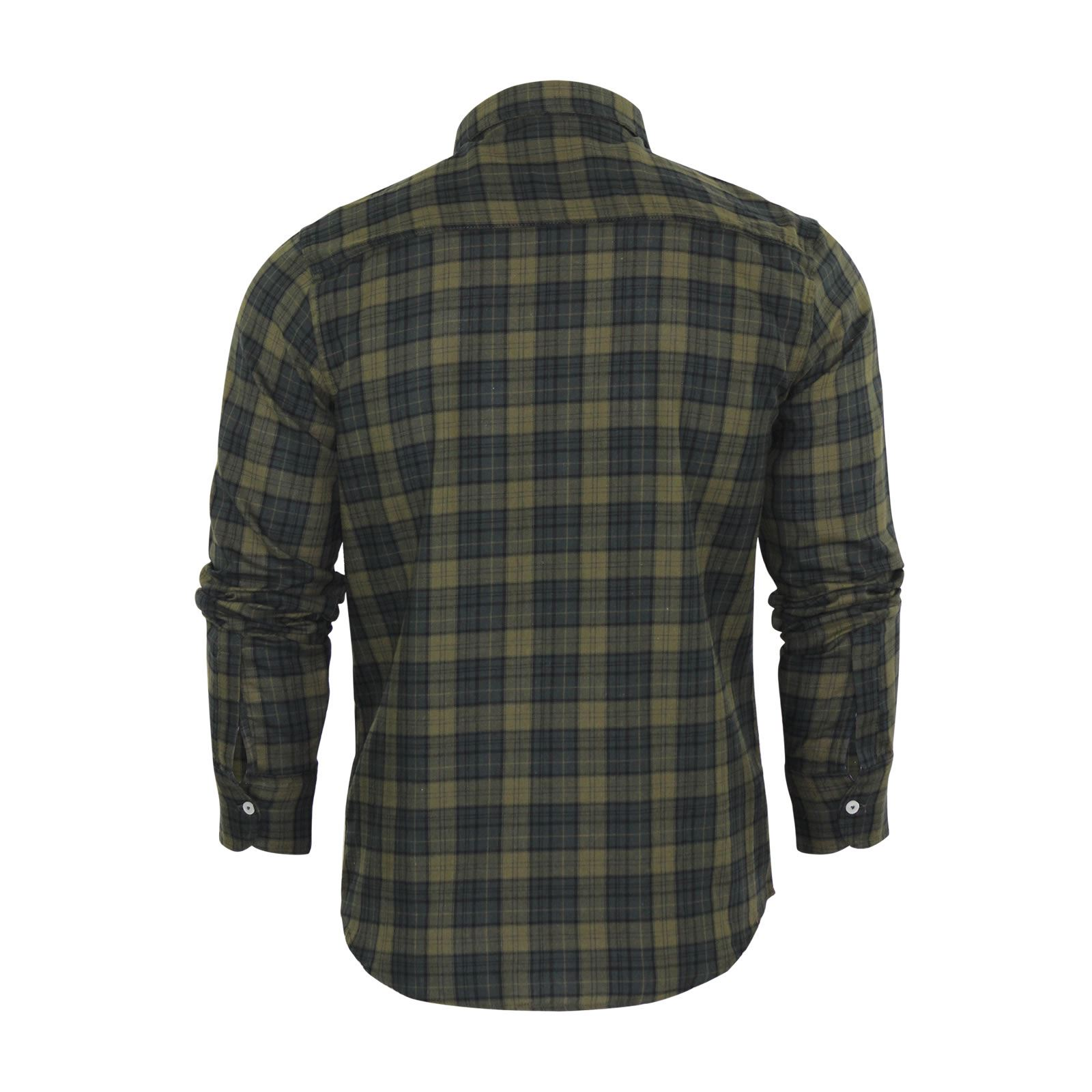 Mens-Check-Shirt-Brave-Soul-Flannel-Brushed-Cotton-Long-Sleeve-Casual-Top thumbnail 66
