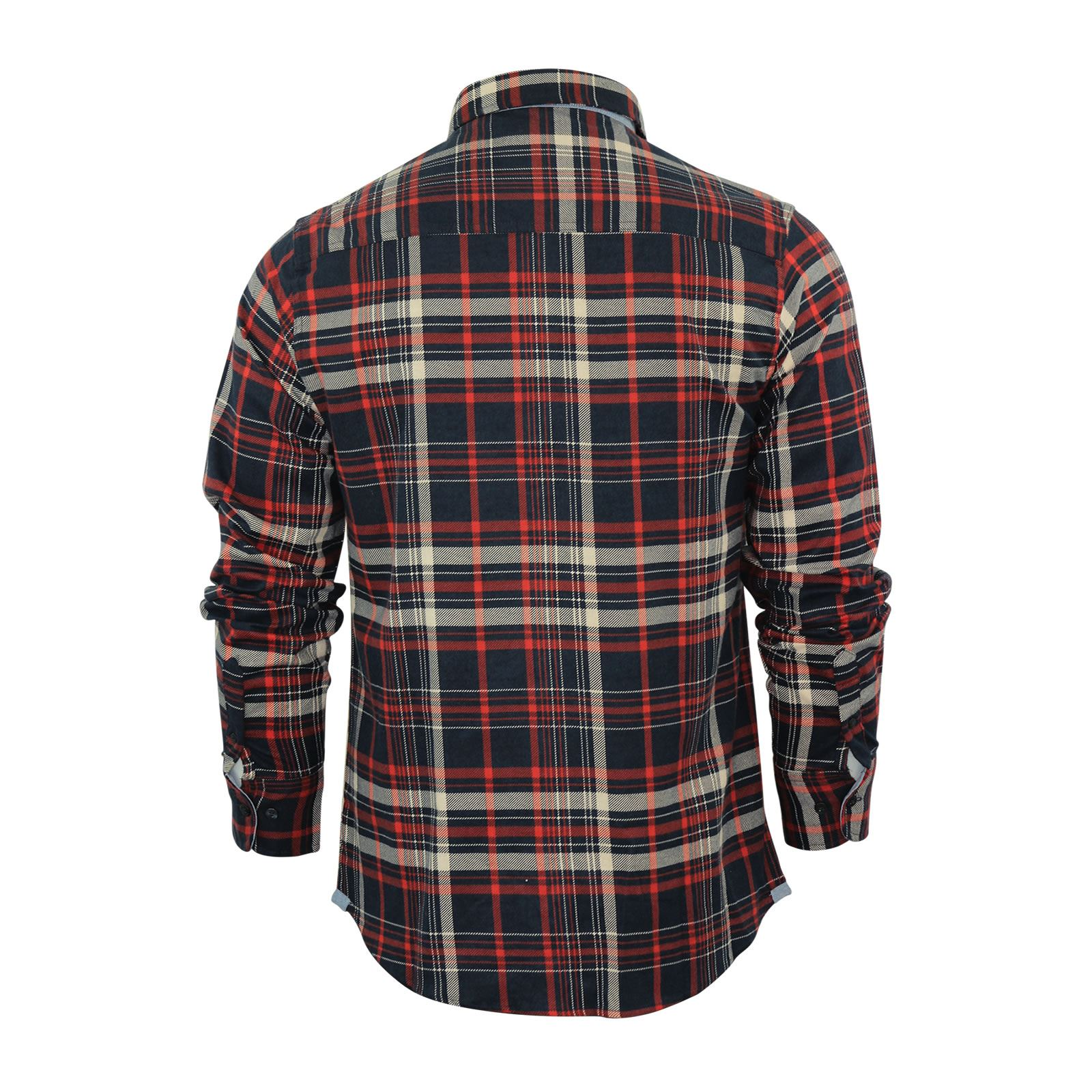 Mens-Check-Shirt-Brave-Soul-Flannel-Brushed-Cotton-Long-Sleeve-Casual-Top thumbnail 36