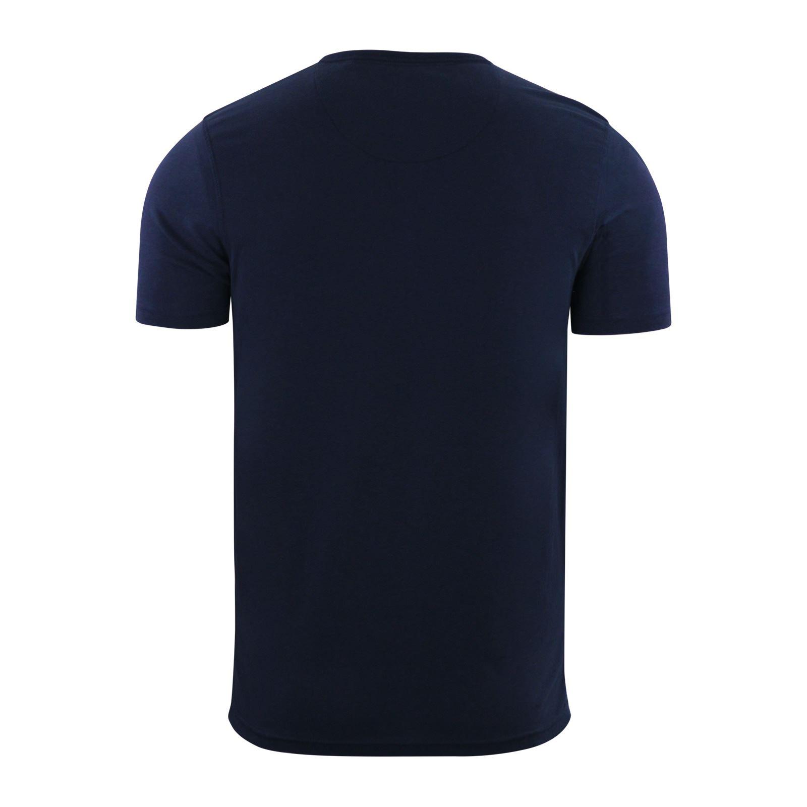 Brave-Soul-Quartz-Homme-T-Shirt-Grandad-Neck-manches-courtes-coton-tee miniature 3