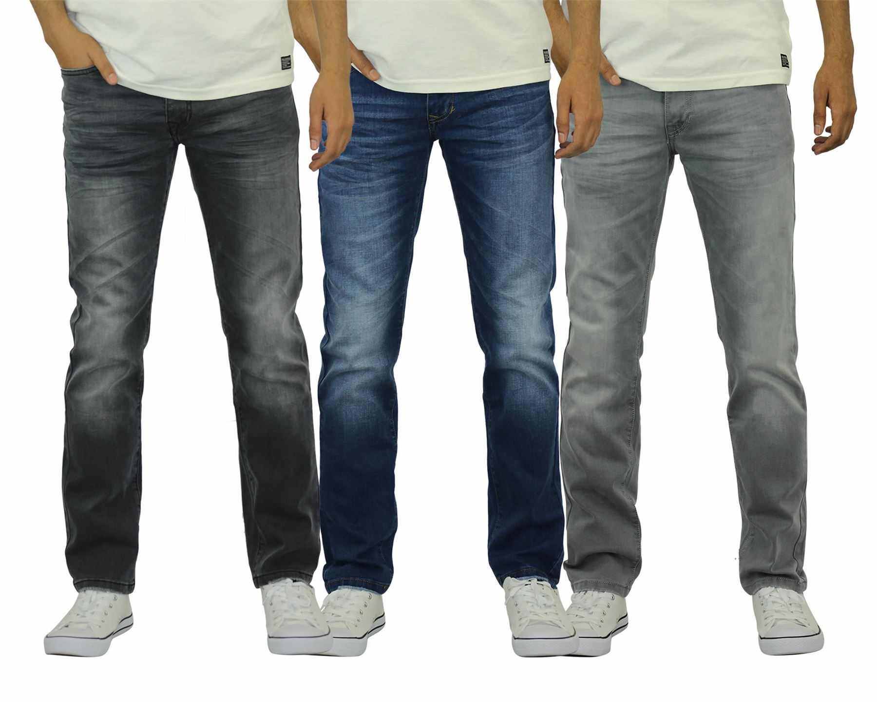 Crosshatch Mens Slim Fit Svelte Jeans
