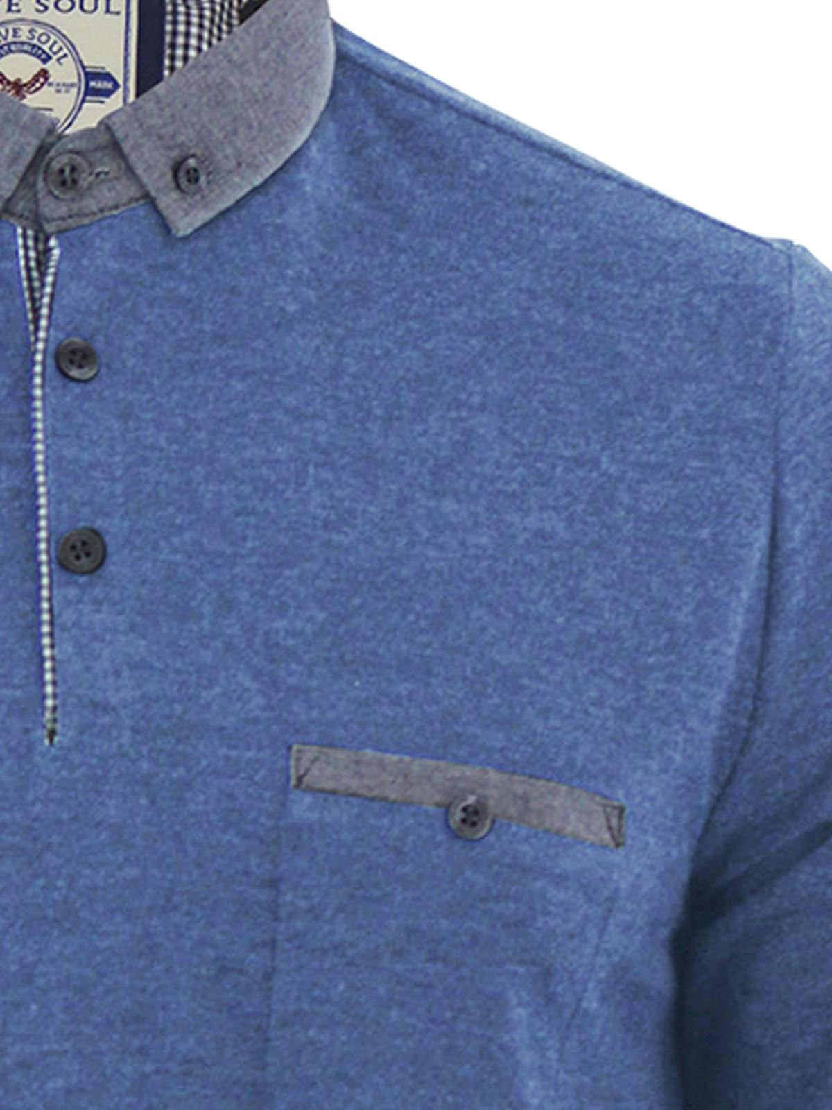 Mens-Polo-Shirt-Brave-Soul-Long-Sleeve-Collared-Top-In-Various-Styles thumbnail 49