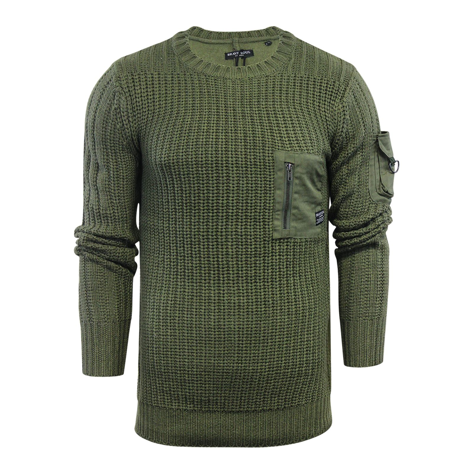 Mens-Jumper-Brave-Soul-Knitted-Sweater-In-Various-Styles thumbnail 68