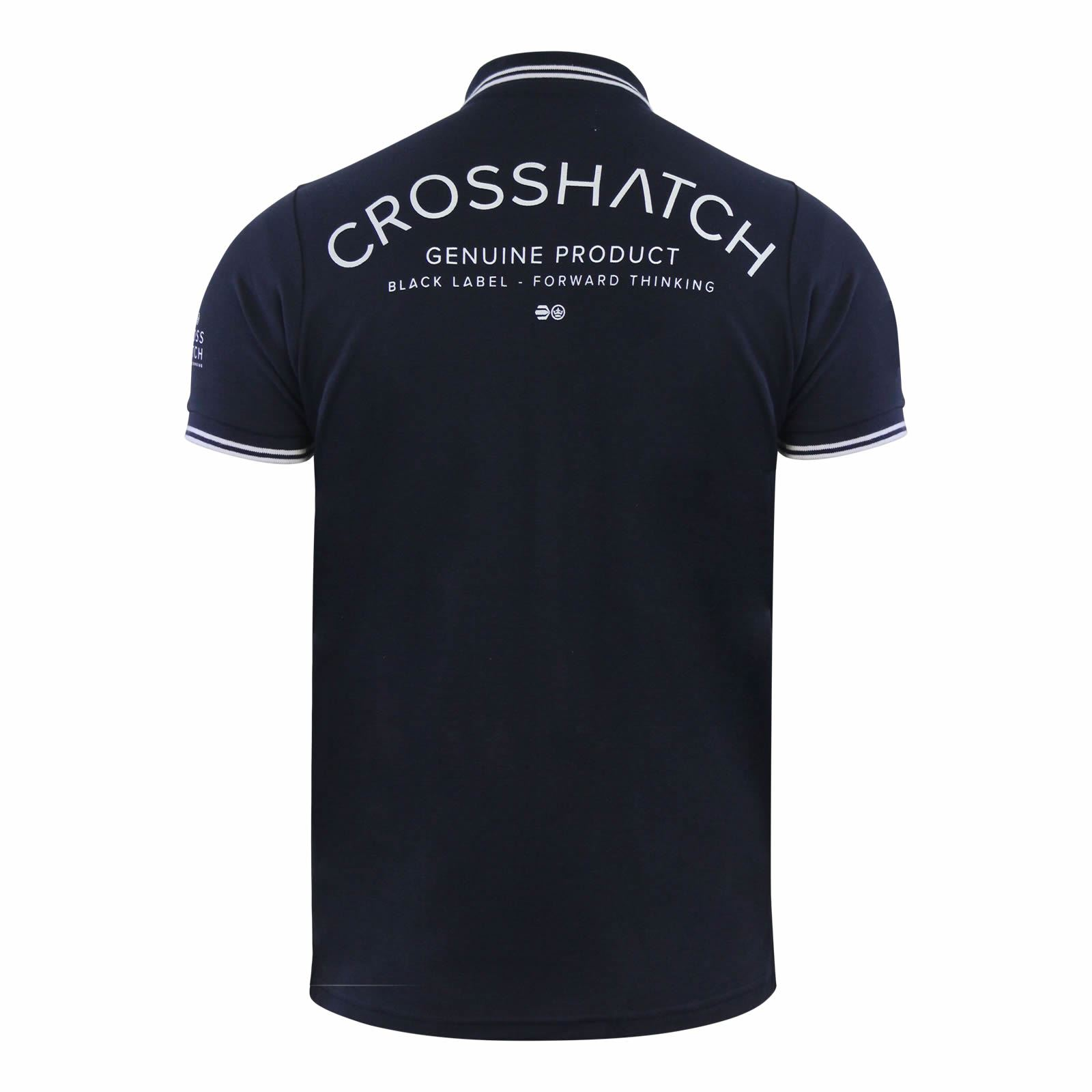 Crosshatch-Mens-Polo-T-Shirt-Pique-Polo-Cotton-Collared-Short-Sleeve-T-Shirt thumbnail 63