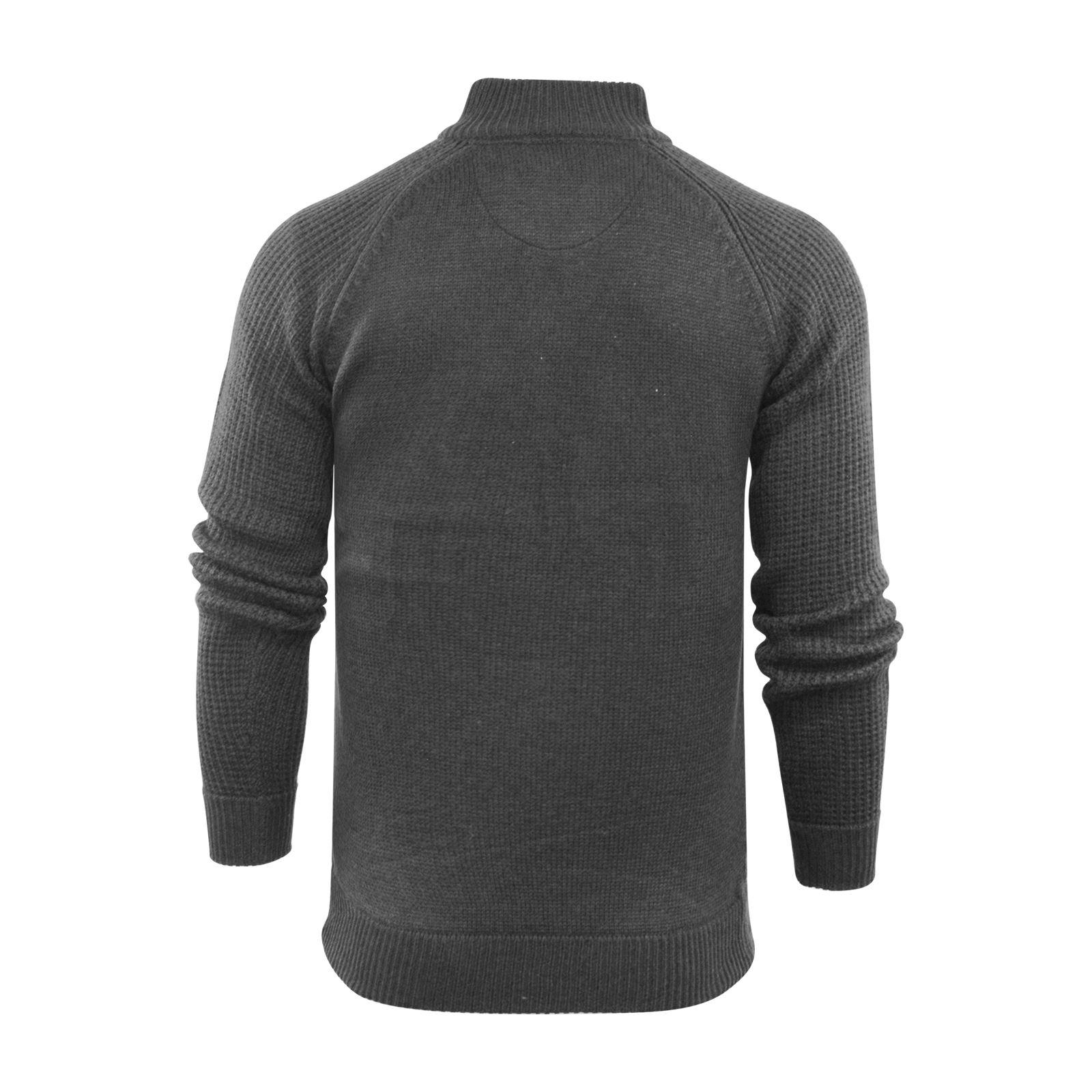 Brave-Soul-Mizrahi-Mens-Jumper-2-Button-Funnel-Neck-Sweater thumbnail 5