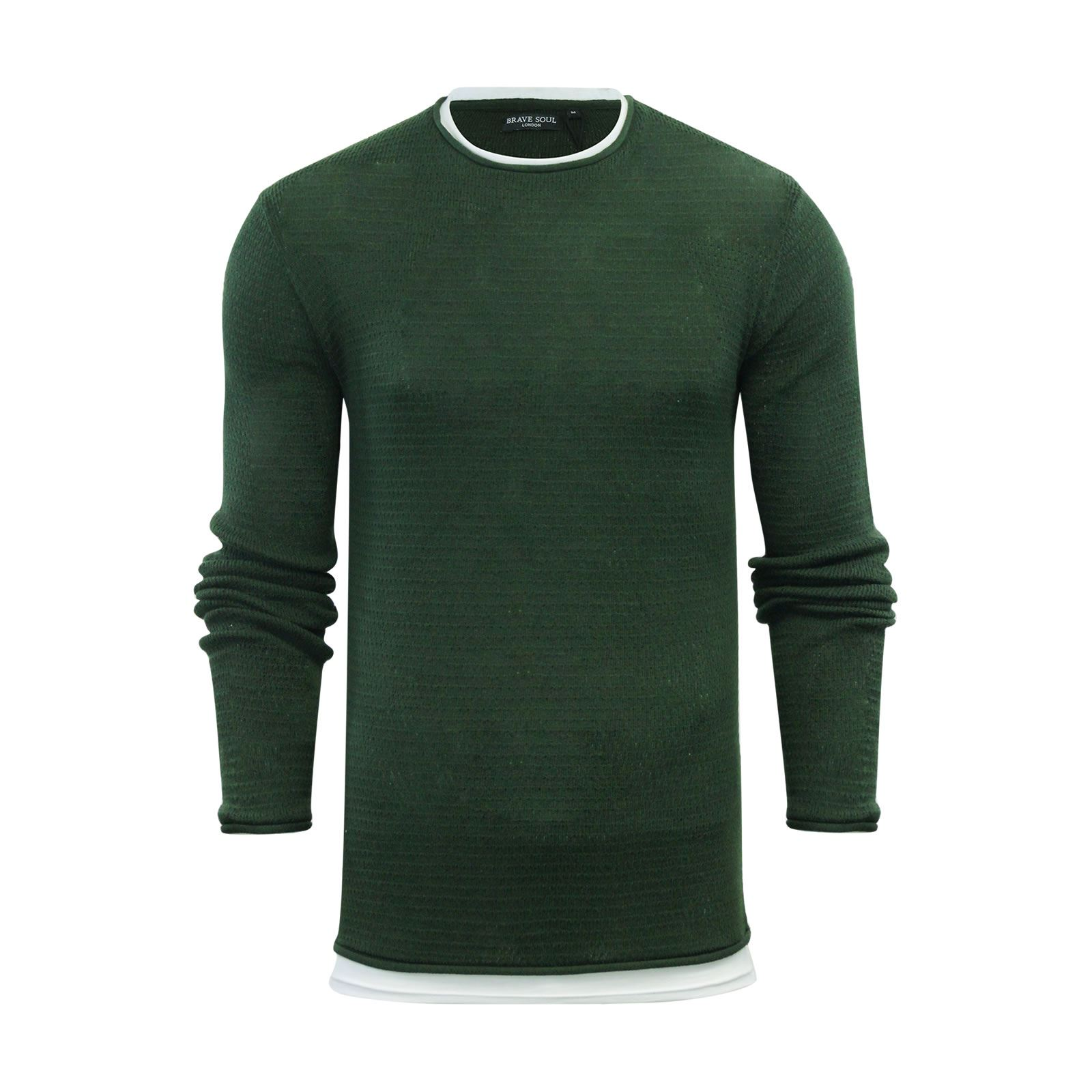 Mens-Jumper-Brave-Soul-Knitted-Sweater-In-Various-Styles thumbnail 48