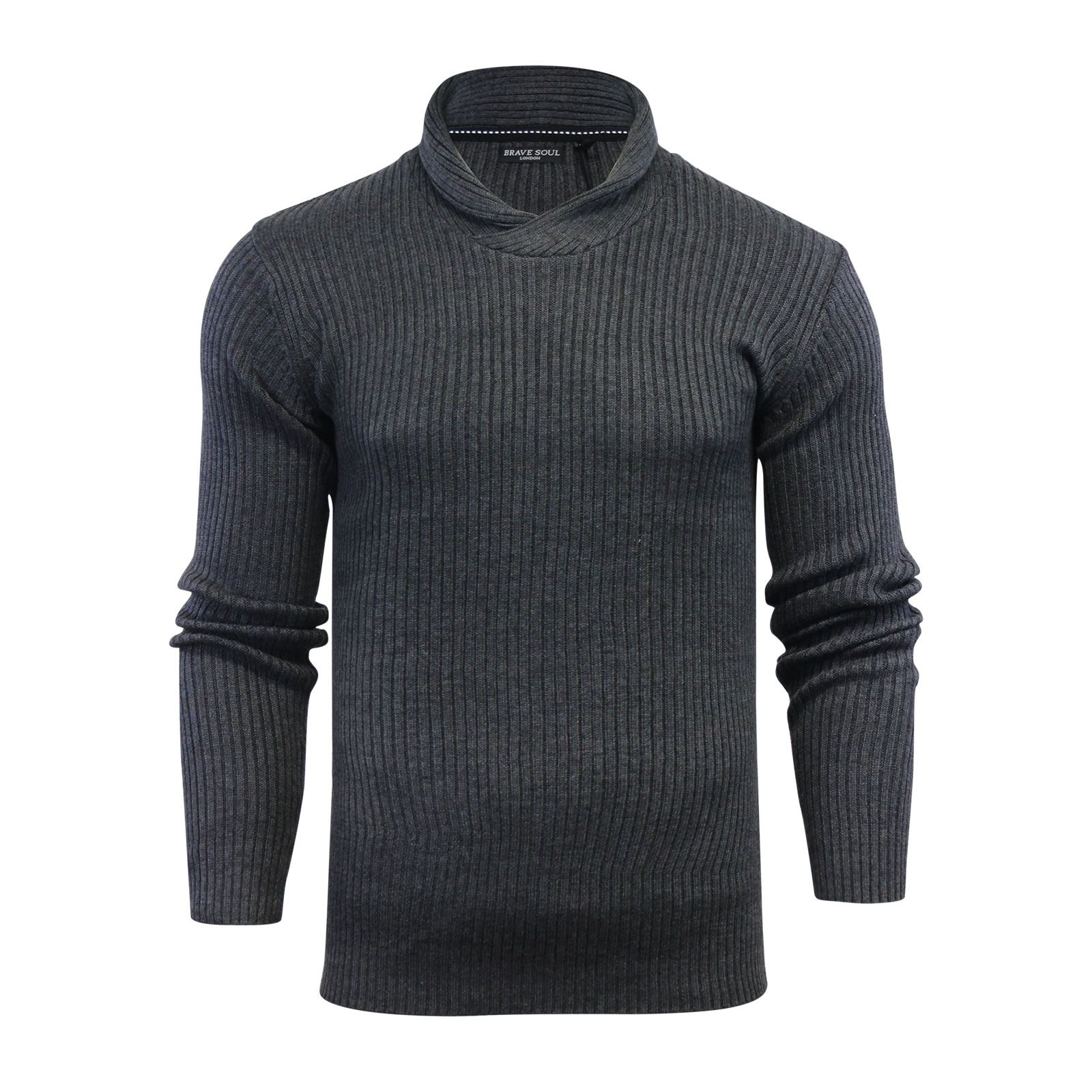Mens-Jumper-Brave-Soul-Knitted-Sweater-In-Various-Styles thumbnail 117