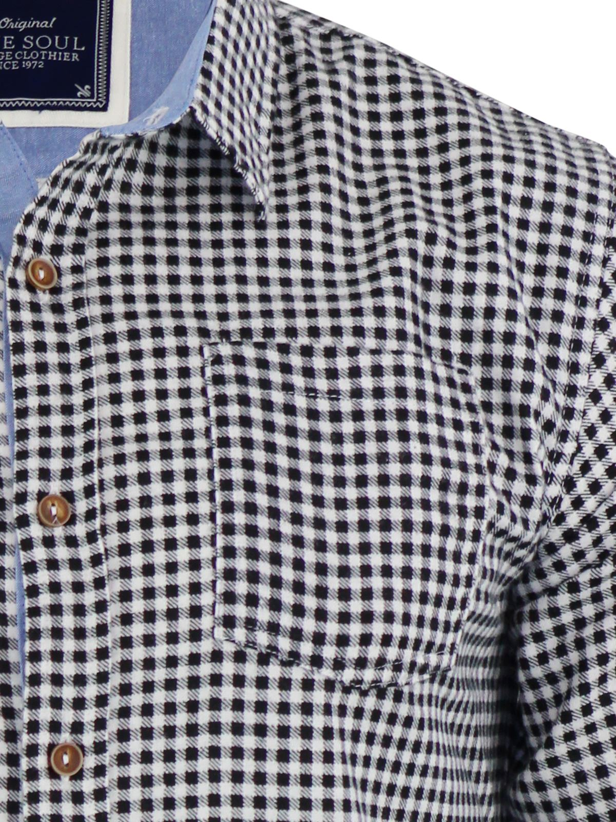 Mens-Check-Shirt-Brave-Soul-Flannel-Brushed-Cotton-Long-Sleeve-Casual-Top thumbnail 4
