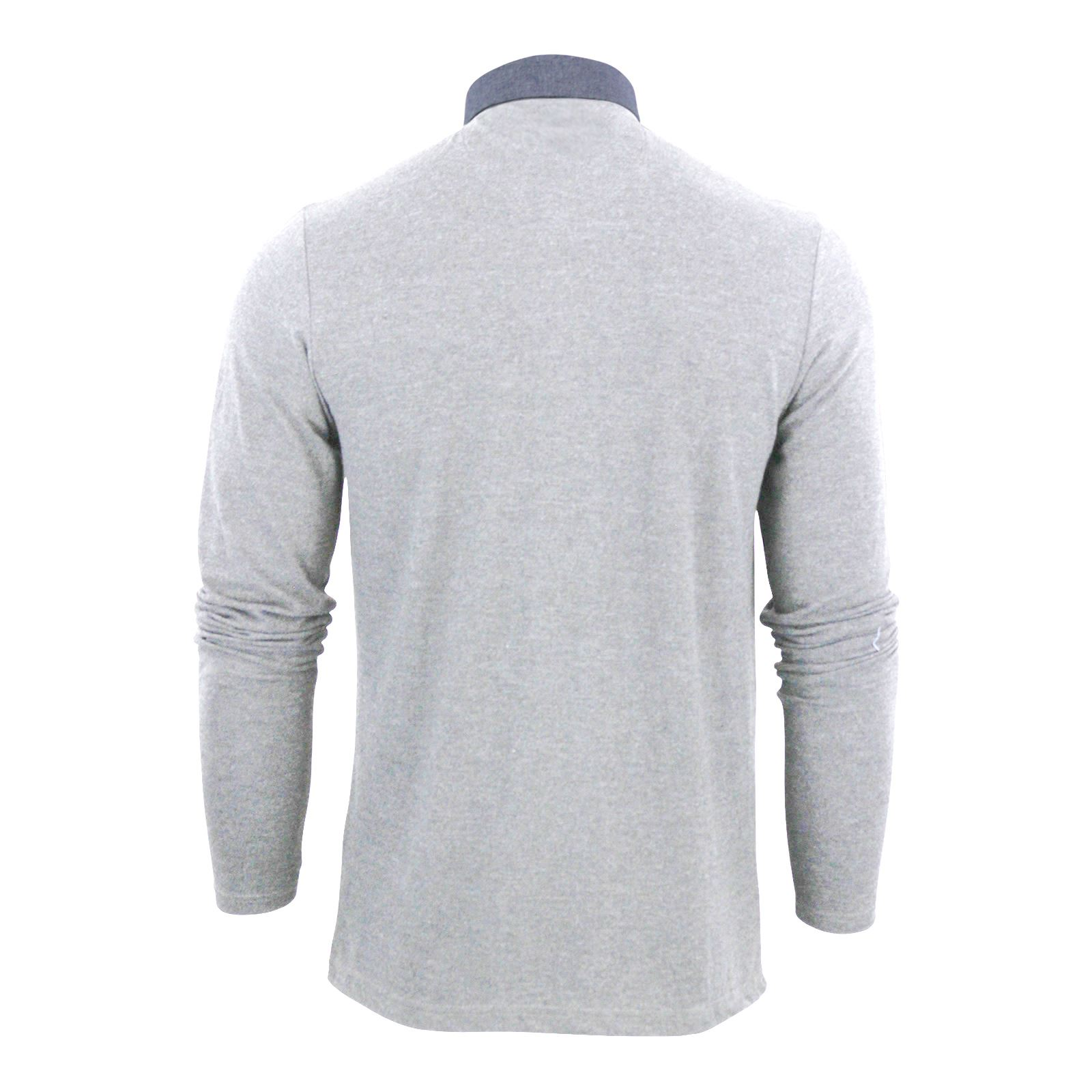 Mens-Polo-T-Shirt-Brave-Soul-Hera-Cotton-Long-Sleeve-Casual-Top thumbnail 9