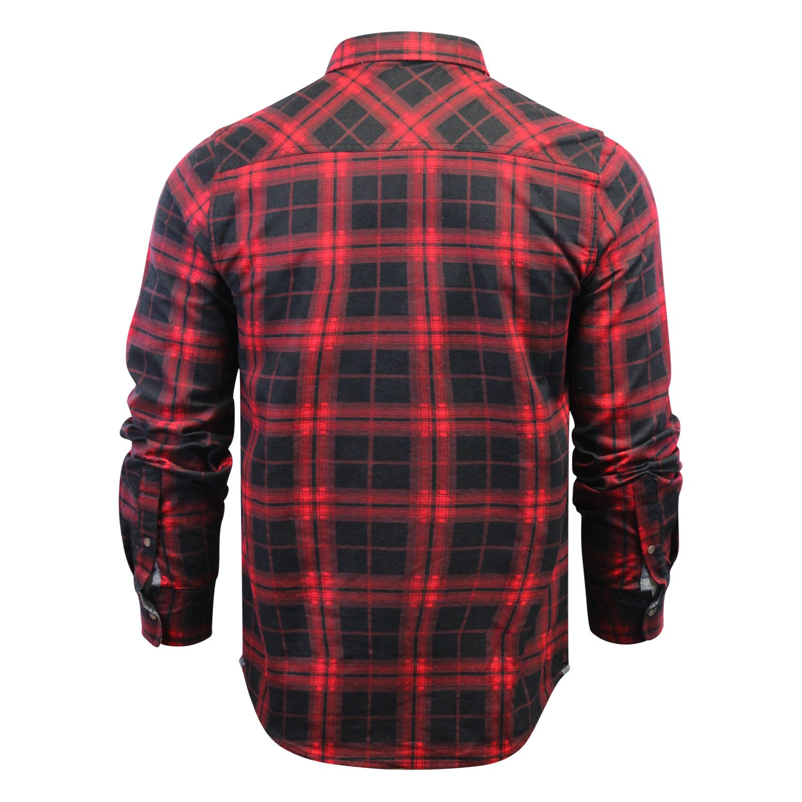 Mens-Check-Shirt-Brave-Soul-Flannel-Brushed-Cotton-Long-Sleeve-Casual-Top thumbnail 111