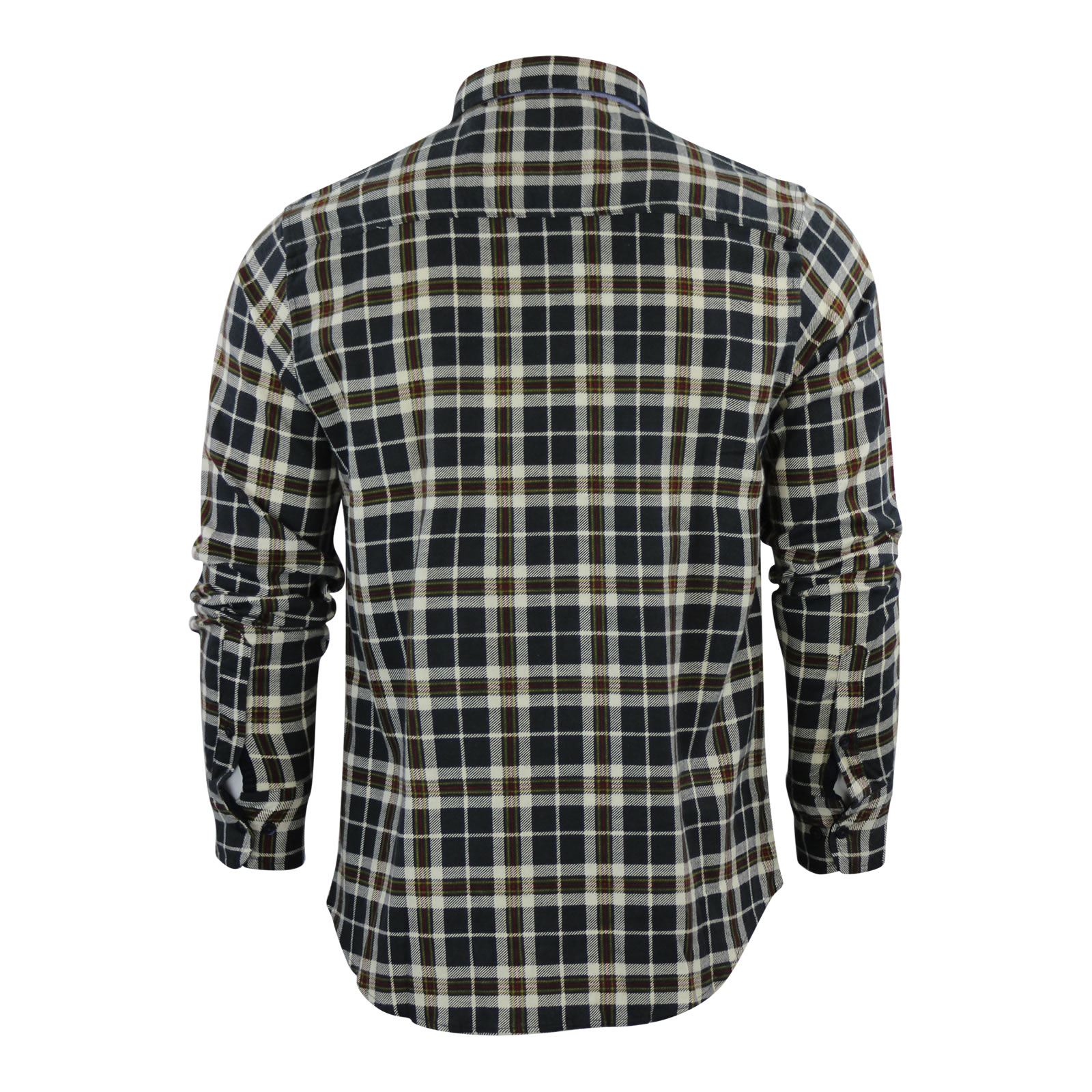 Mens-Check-Shirt-Brave-Soul-Flannel-Brushed-Cotton-Long-Sleeve-Casual-Top thumbnail 45