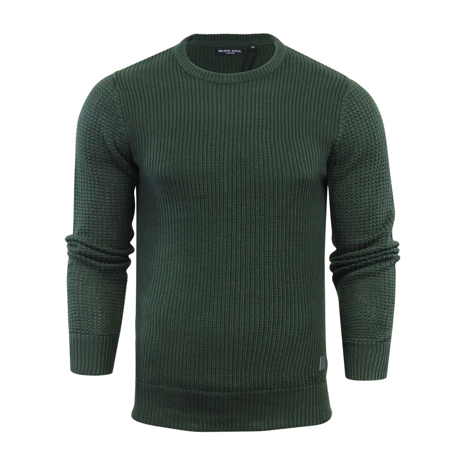 Mens-Jumper-Brave-Soul-Knitted-Sweater-In-Various-Styles thumbnail 127