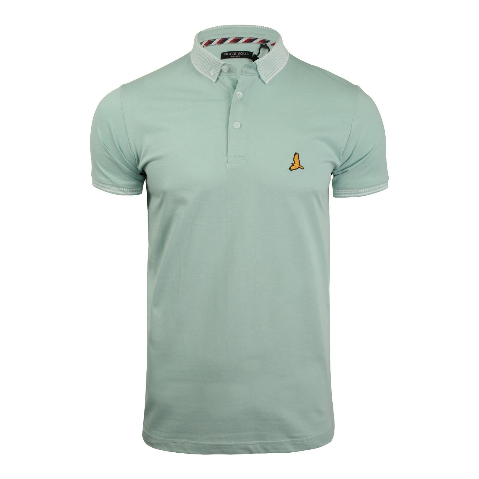 Brave-Soul-Glover-Mens-Polo-T-Shirt-Cotton-Collared-Short-Sleeve-Casual-Top thumbnail 47