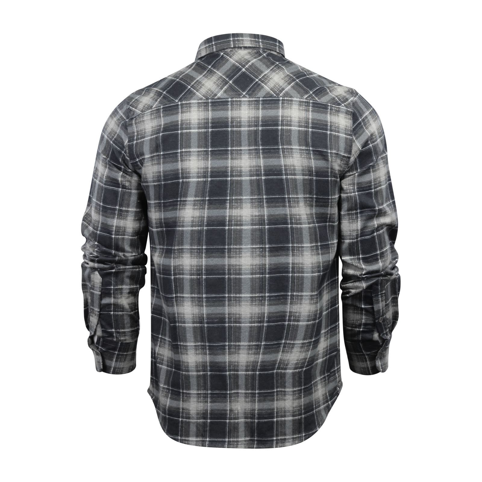 Mens-Check-Shirt-Brave-Soul-Flannel-Brushed-Cotton-Long-Sleeve-Casual-Top thumbnail 95