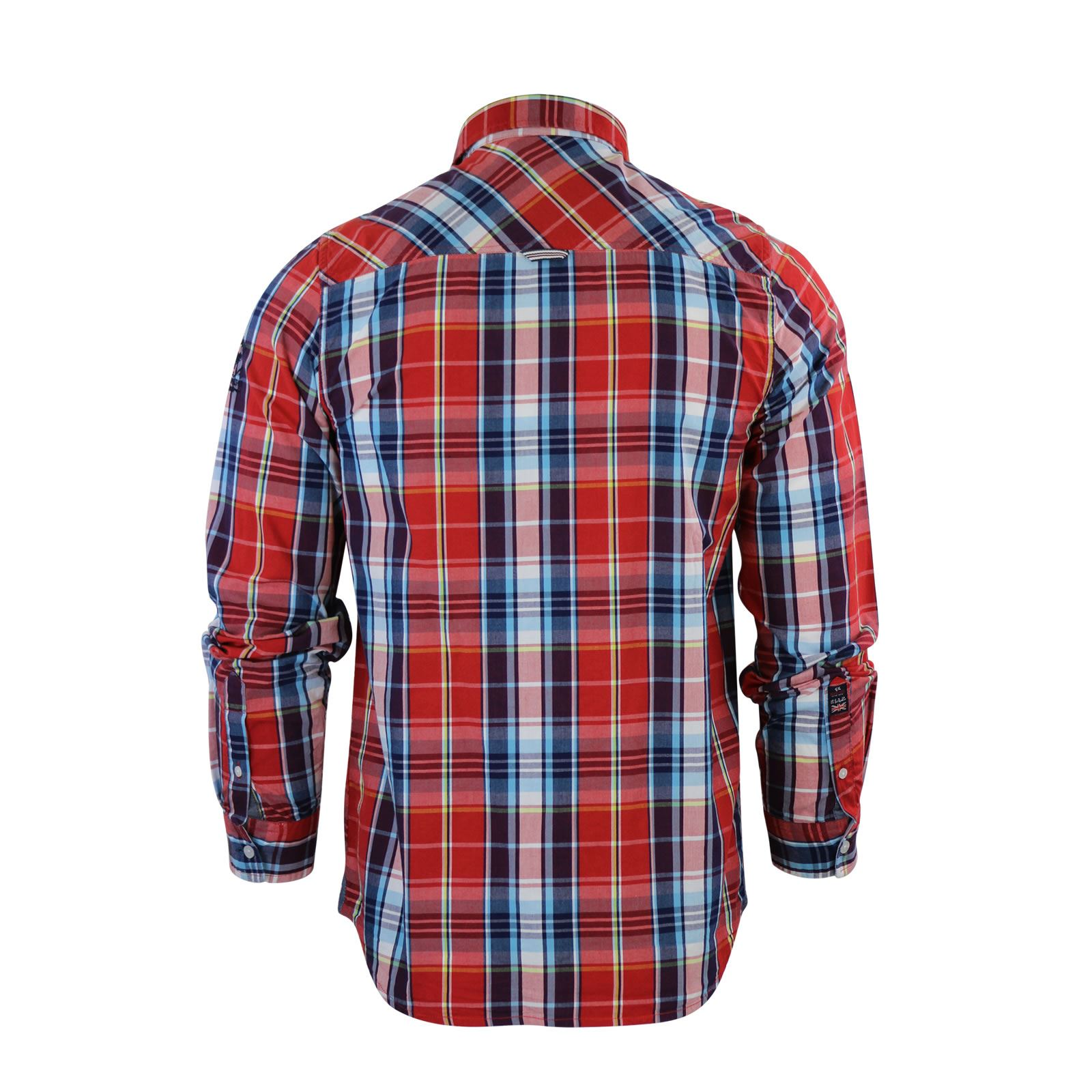 Mens-Check-Shirt-Brave-Soul-Flannel-Brushed-Cotton-Long-Sleeve-Casual-Top thumbnail 51