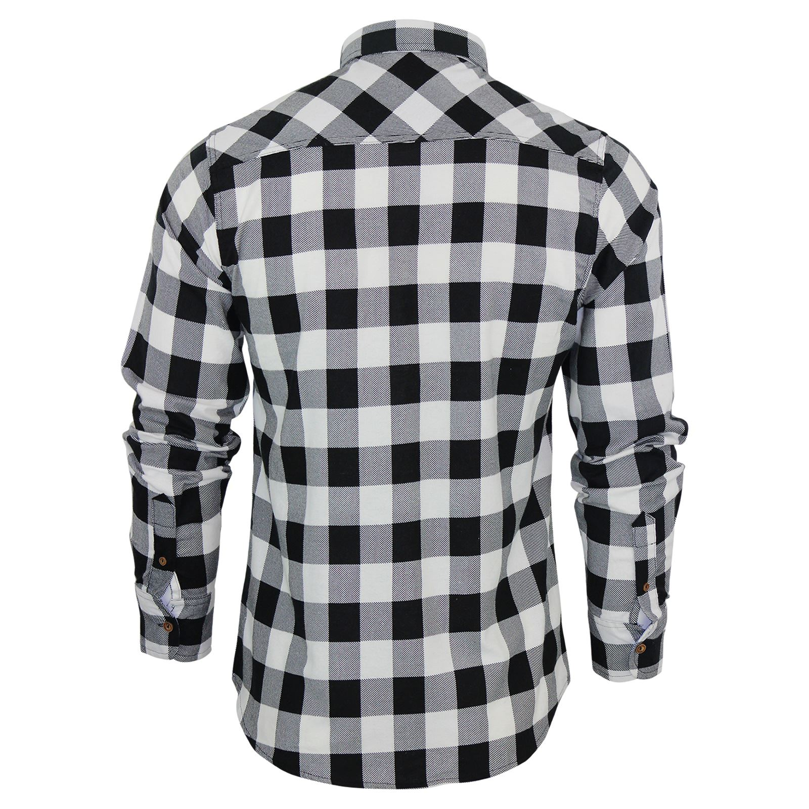 Mens-Check-Shirt-Brave-Soul-Flannel-Brushed-Cotton-Long-Sleeve-Casual-Top thumbnail 24