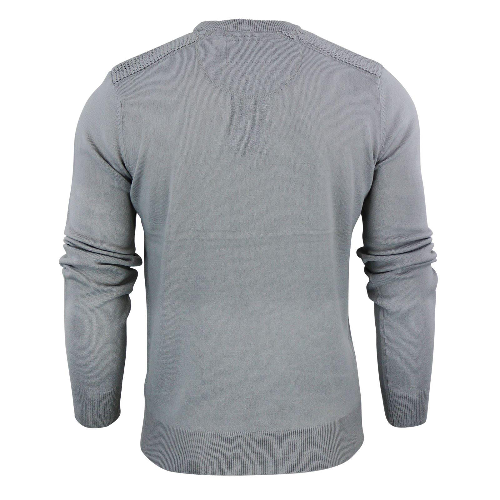 Brave-Soul-Luna-Mens-Jumper-Crew-Neck-Sweater-With-Shoulder-Detailing miniature 6