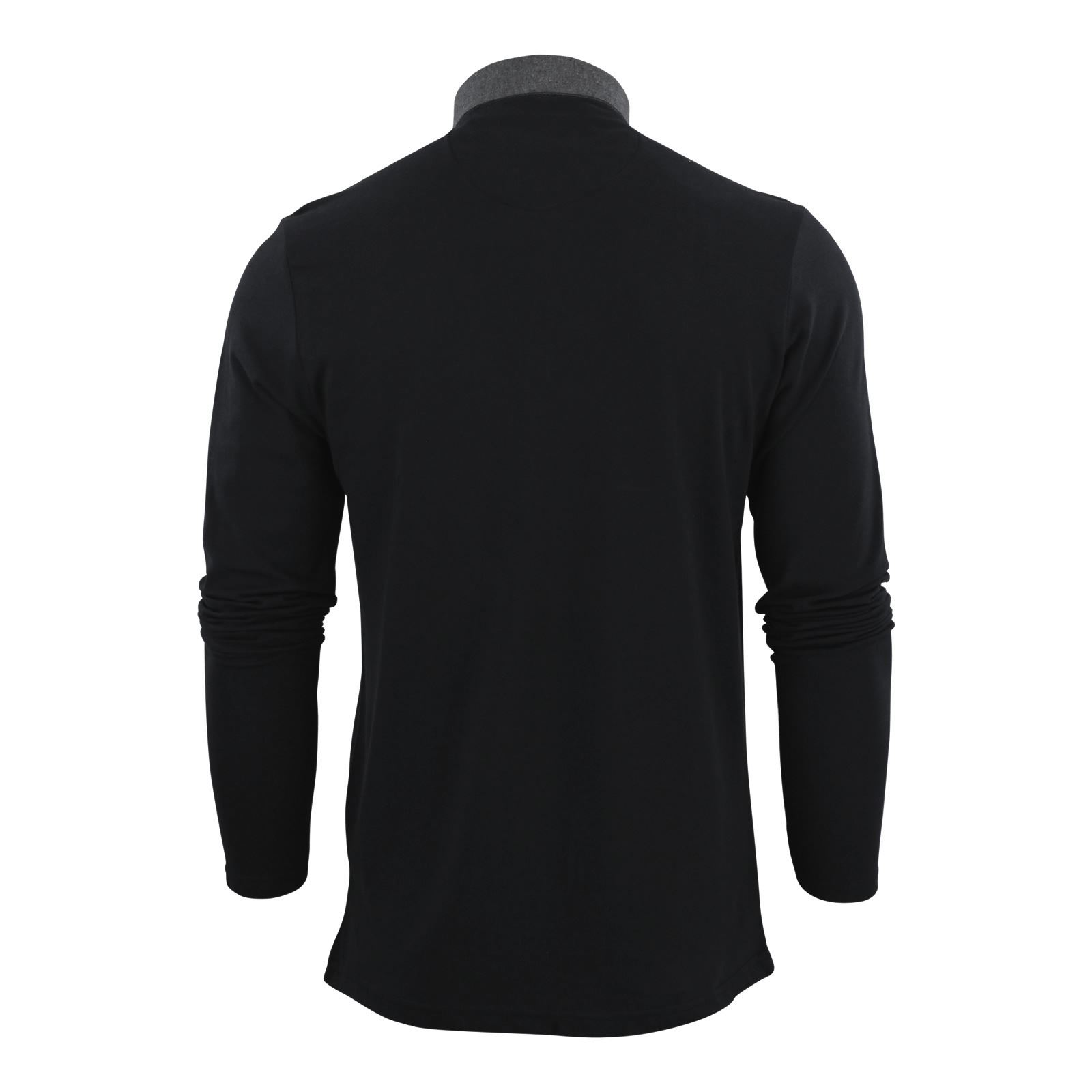 Brave-Soul-Mens-Polo-Shirt-Long-Sleeve-Collared-Top-In-Various-Styles thumbnail 70