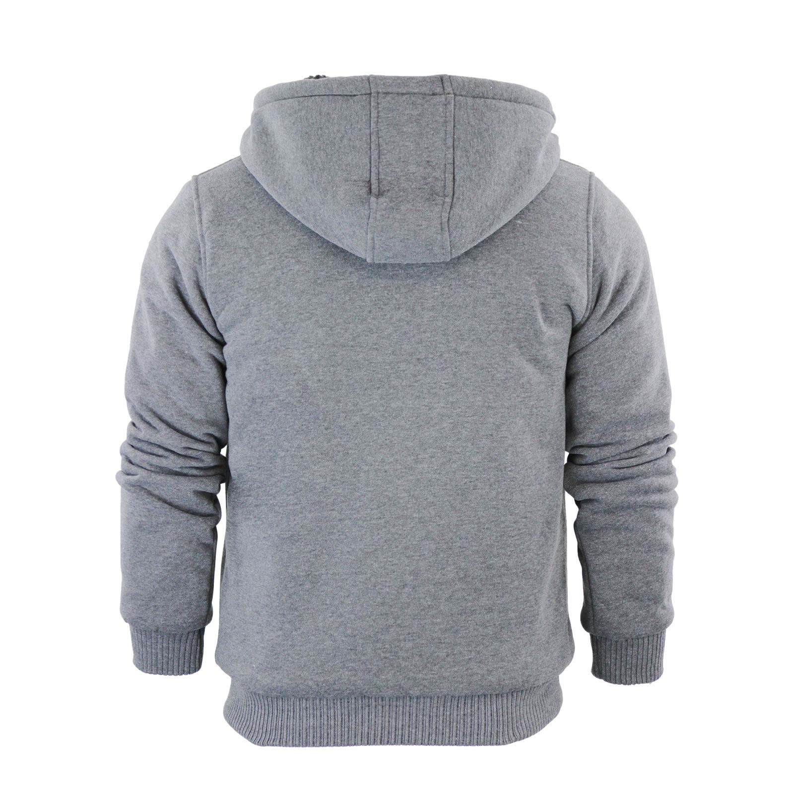 Brave-Soul-Zone-Mens-Hoodie-Sherpa-Fleece-Lined-Zip-Up-Hooded-Sweater thumbnail 6