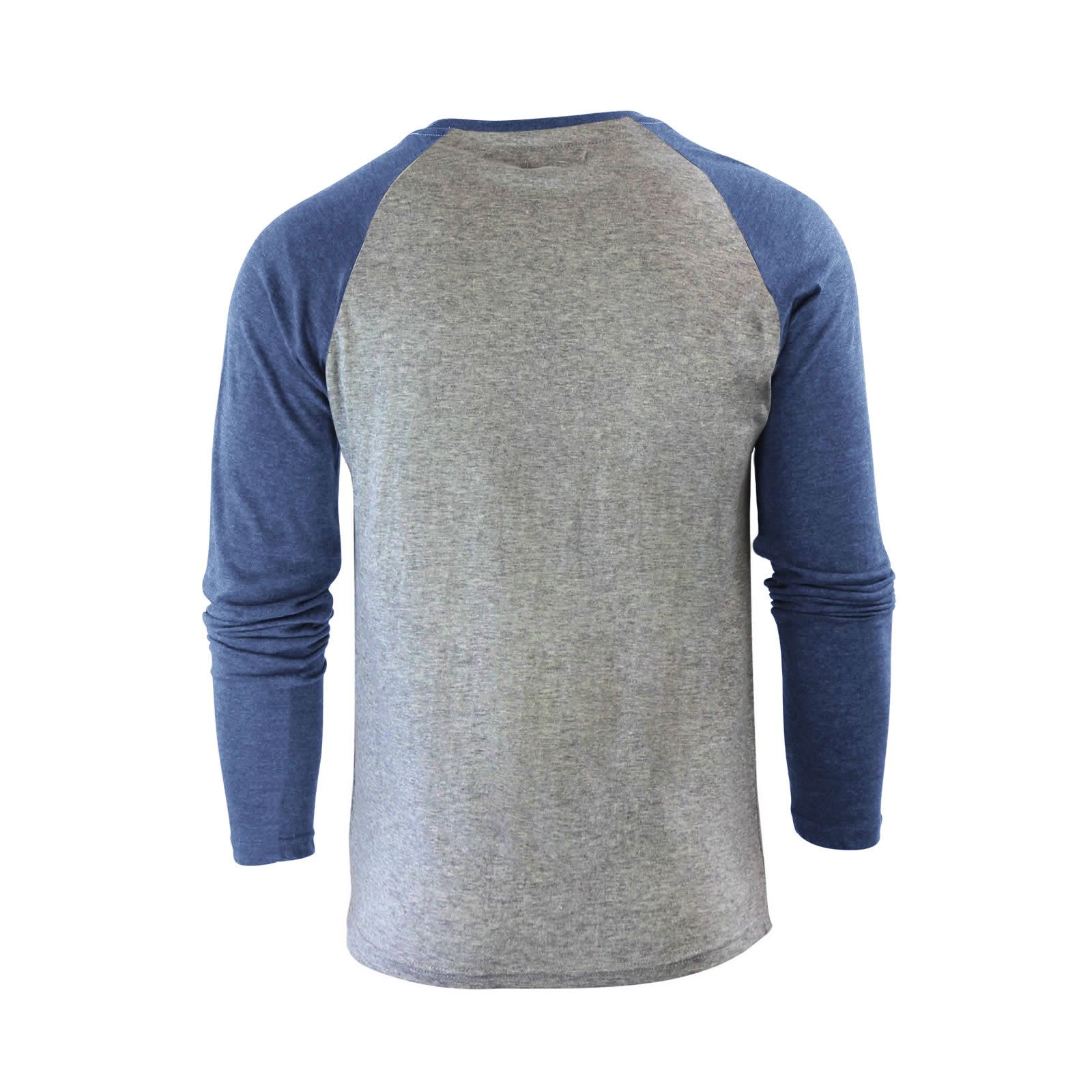 Mens-T-Shirt-by-Brave-Soul-Prague-Cotton-Long-Sleeved-Crew-Neck-Casual-Top thumbnail 57