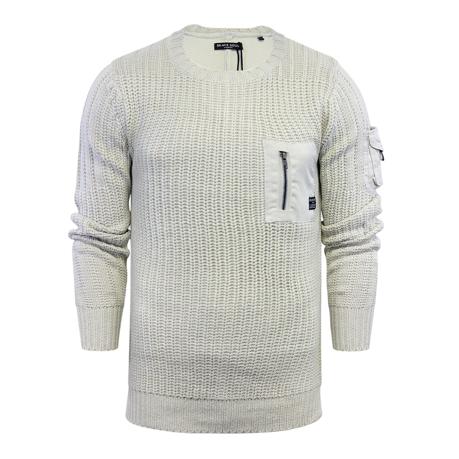 Mens-Jumper-Brave-Soul-Knitted-Sweater-In-Various-Styles thumbnail 64