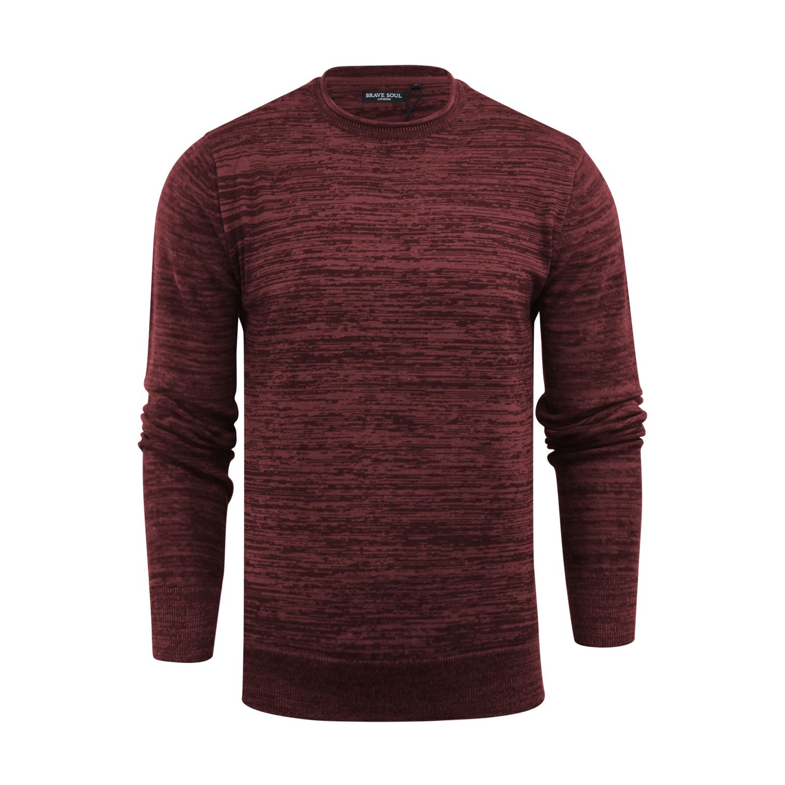 Mens-Jumper-Brave-Soul-Knitted-Sweater-In-Various-Styles thumbnail 8