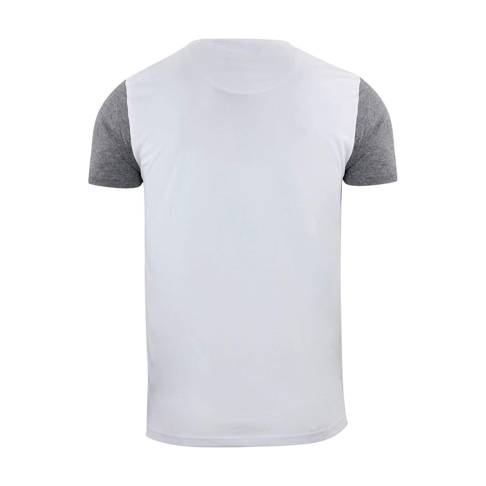 Brave-Soul-Quartz-Homme-T-Shirt-Grandad-Neck-manches-courtes-coton-tee miniature 11