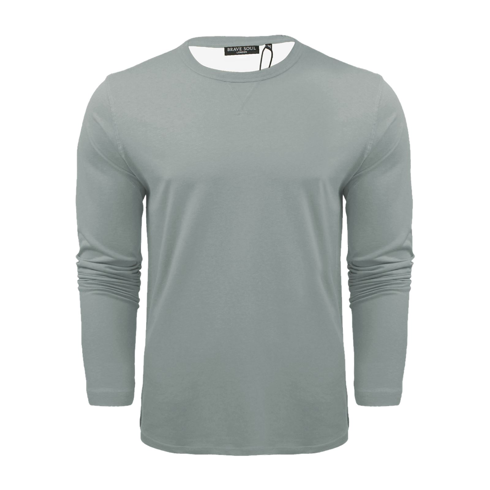 Mens-T-Shirt-by-Brave-Soul-Prague-Cotton-Long-Sleeved-Crew-Neck-Casual-Top thumbnail 31