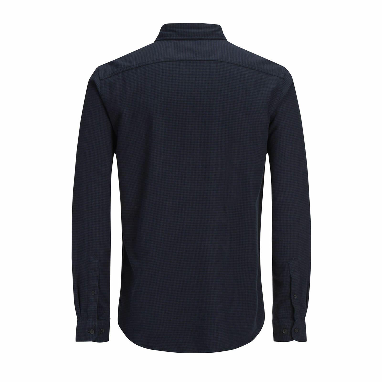 Jack Jones & Jones Jack Eskild Mens Check Shirt Long Manche CollaRouge Cotton Casual Shirt 4ff012