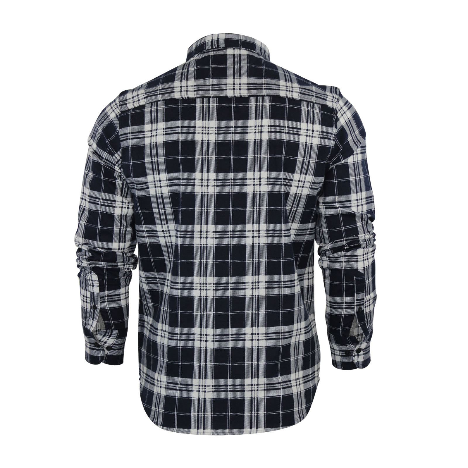 Mens-Check-Shirt-Brave-Soul-Flannel-Brushed-Cotton-Long-Sleeve-Casual-Top thumbnail 30