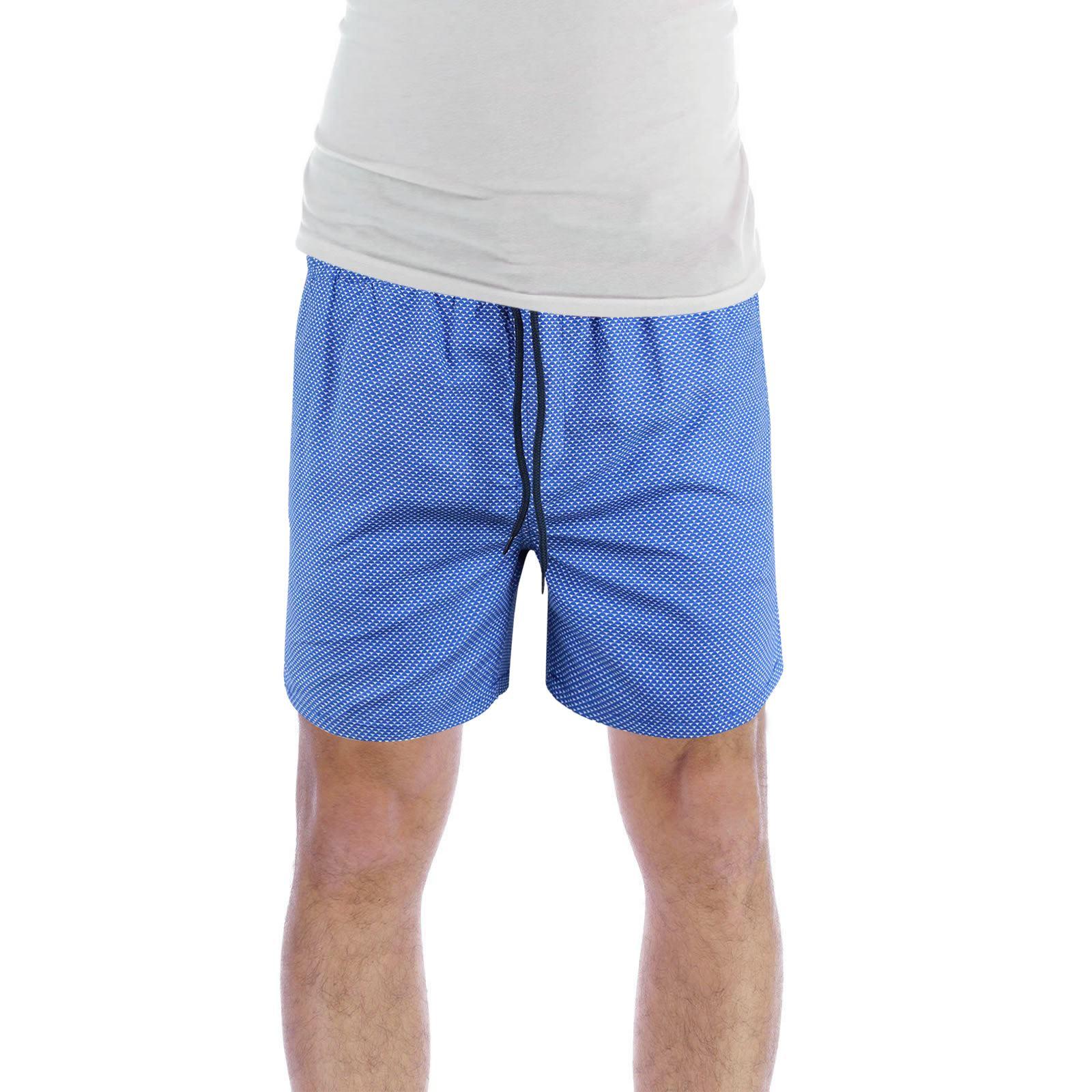 Brave-Soul-Henderson-Homme-Shorts-De-Bain-Geo-Print-Natation-Ete-Trunks miniature 4