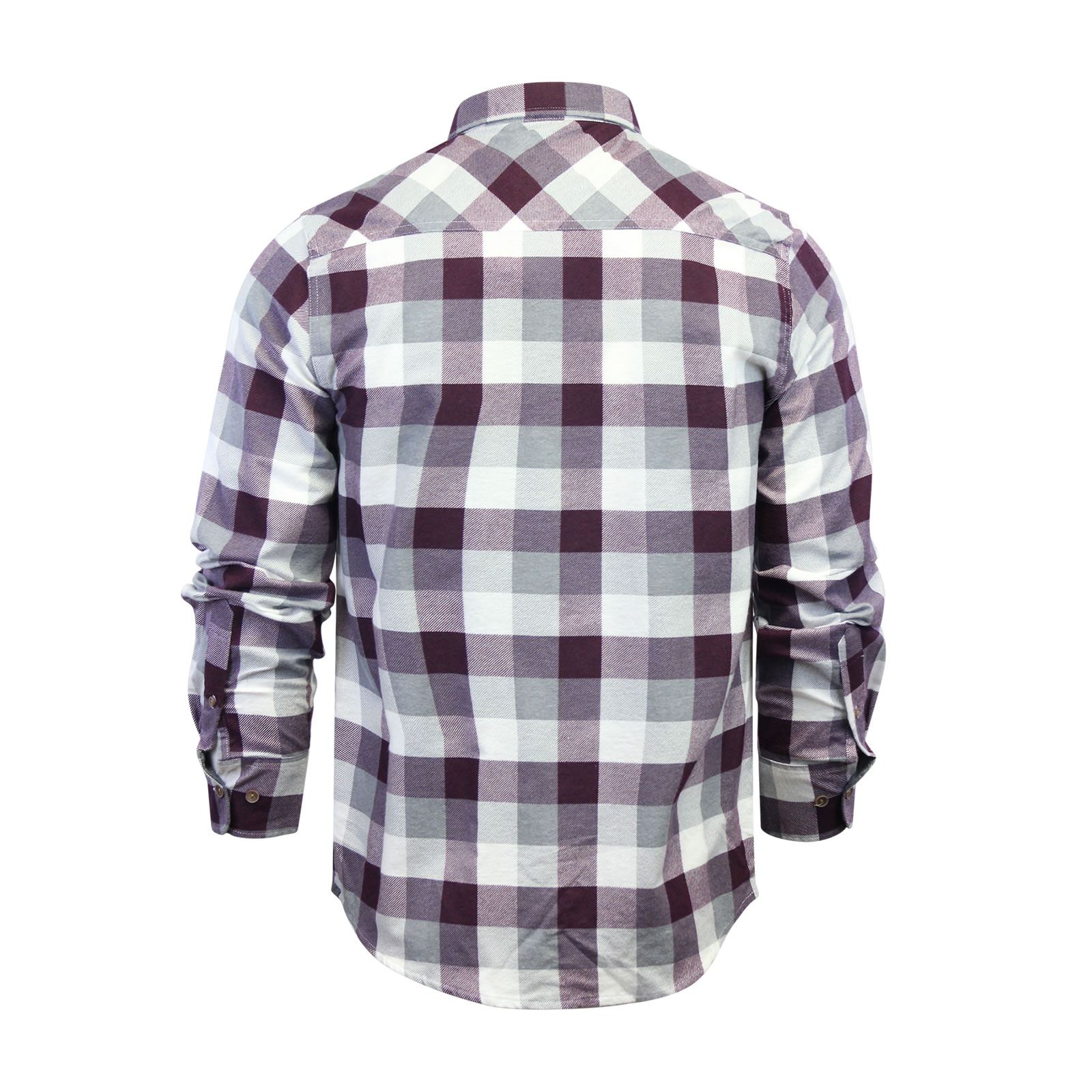 Mens-Check-Shirt-Brave-Soul-Flannel-Brushed-Cotton-Long-Sleeve-Casual-Top thumbnail 115