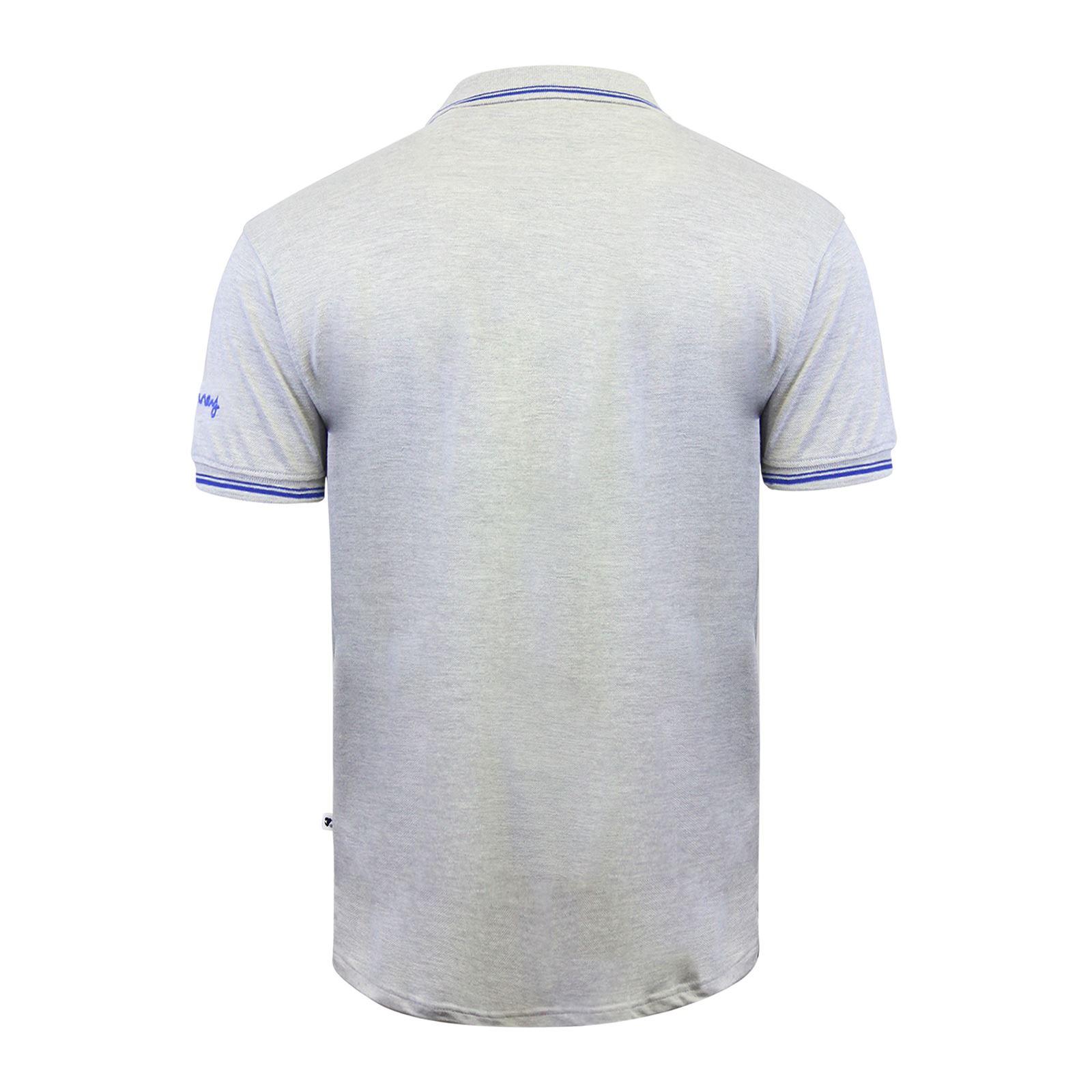 Argent-Comp-pour-Homme-Polo-Shirt-a-Manches-Courtes-en-Coton-Col-Haut-Decontracte miniature 9