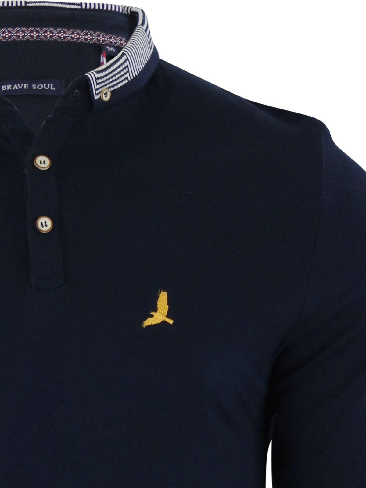 Brave-Soul-Polo-Homme-a-Manches-Longues-A-Col-Haut-Dans-Divers-Styles miniature 104