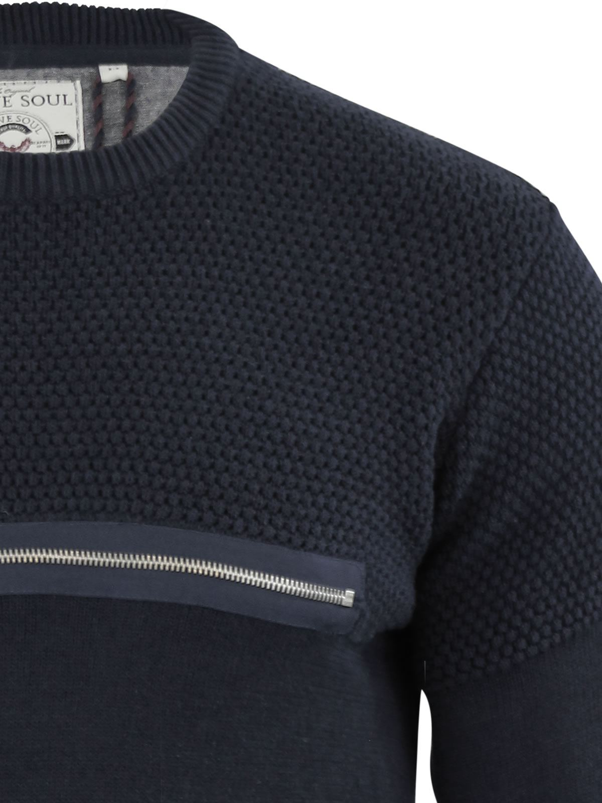 Mens-Jumper-Brave-Soul-Knitted-Sweater-In-Various-Styles thumbnail 137