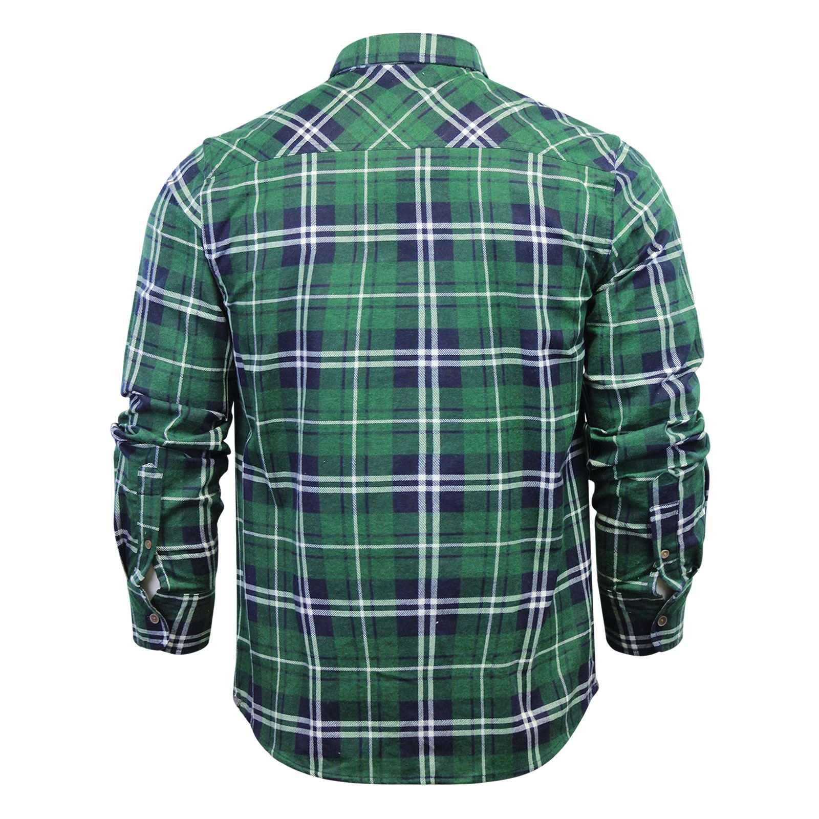 Mens-Check-Shirt-Brave-Soul-Flannel-Brushed-Cotton-Long-Sleeve-Casual-Top thumbnail 87