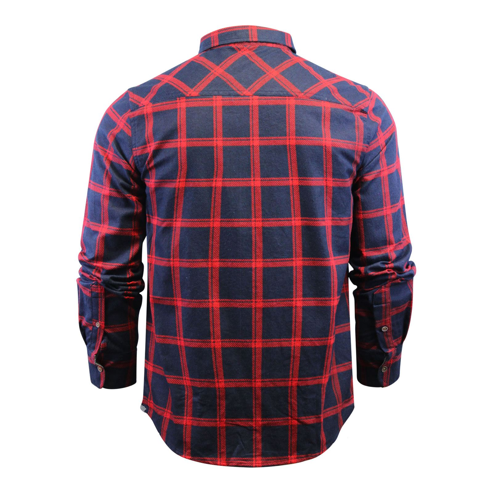 Mens-Check-Shirt-Brave-Soul-Flannel-Brushed-Cotton-Long-Sleeve-Casual-Top thumbnail 103