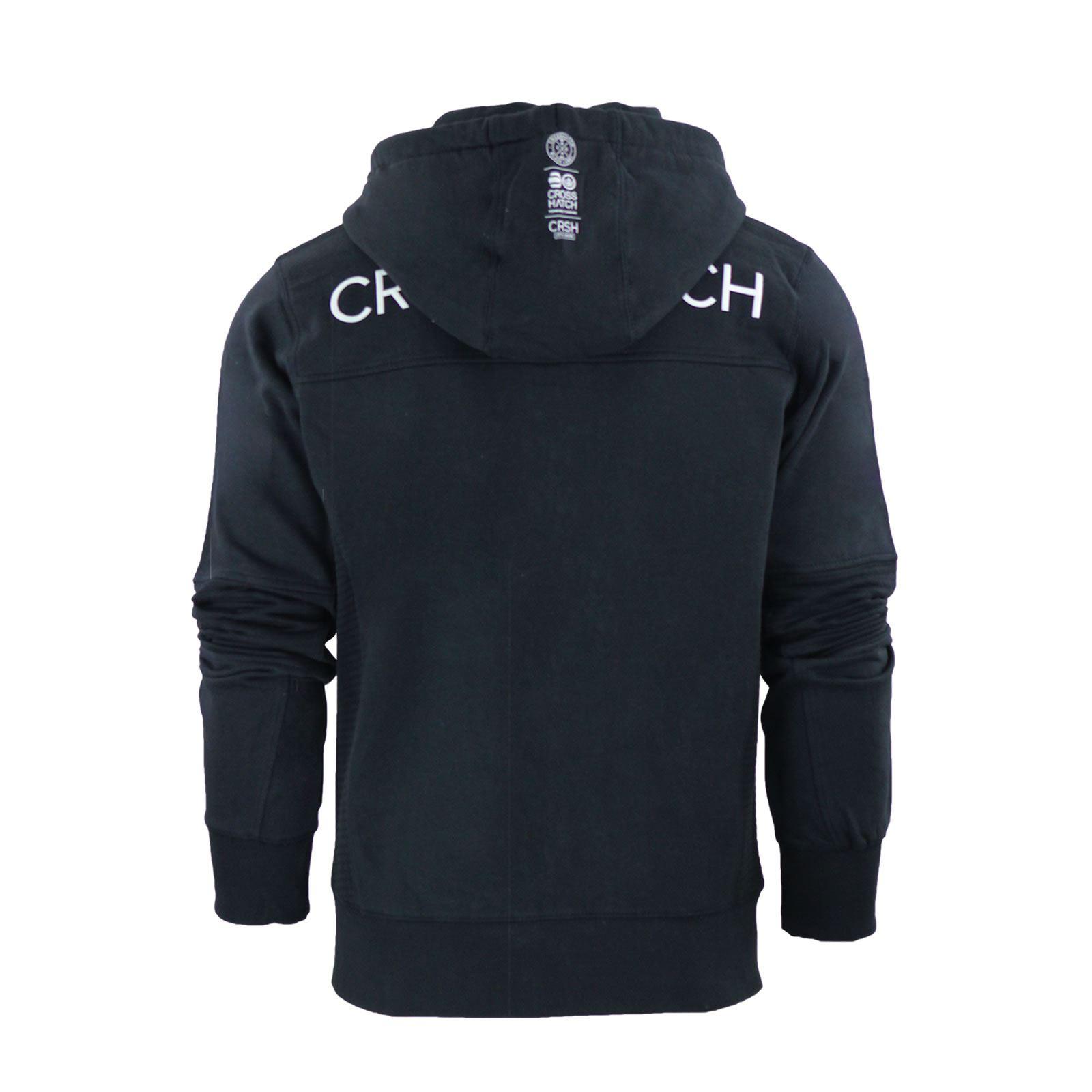 Mens-Hoodie-Crosshatch-Ribbler-Zip-Up-Hooded-Jacket-Pullover-Jumper-Sweatershirt thumbnail 19
