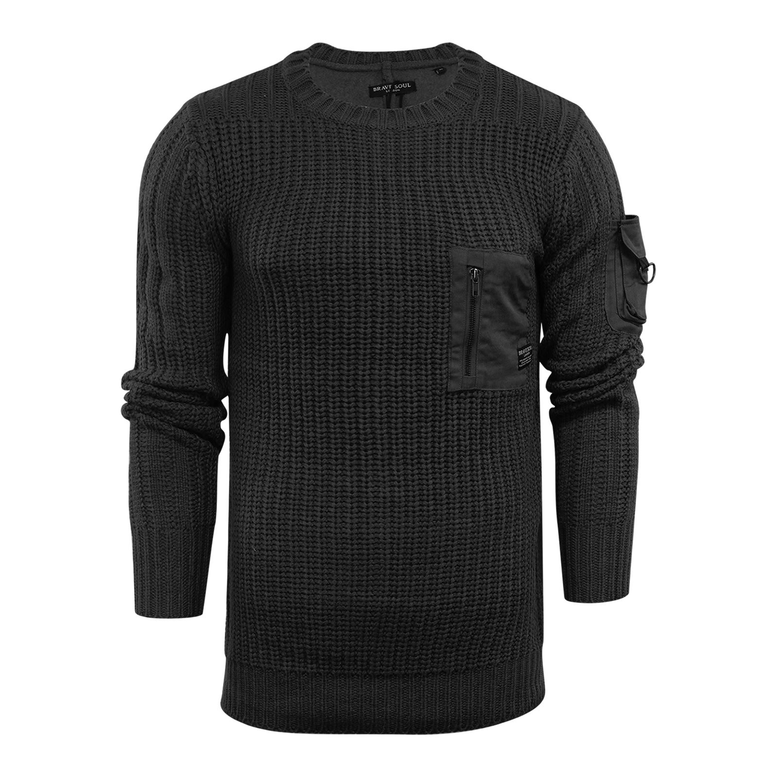 Mens-Jumper-Brave-Soul-Knitted-Sweater-In-Various-Styles thumbnail 66