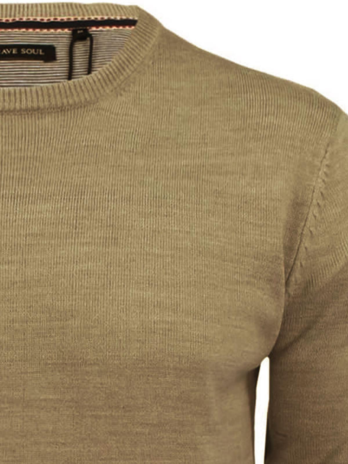 Mens-Jumper-Brave-Soul-Urbain-Knitted-Crew-Neck-Sweater thumbnail 31
