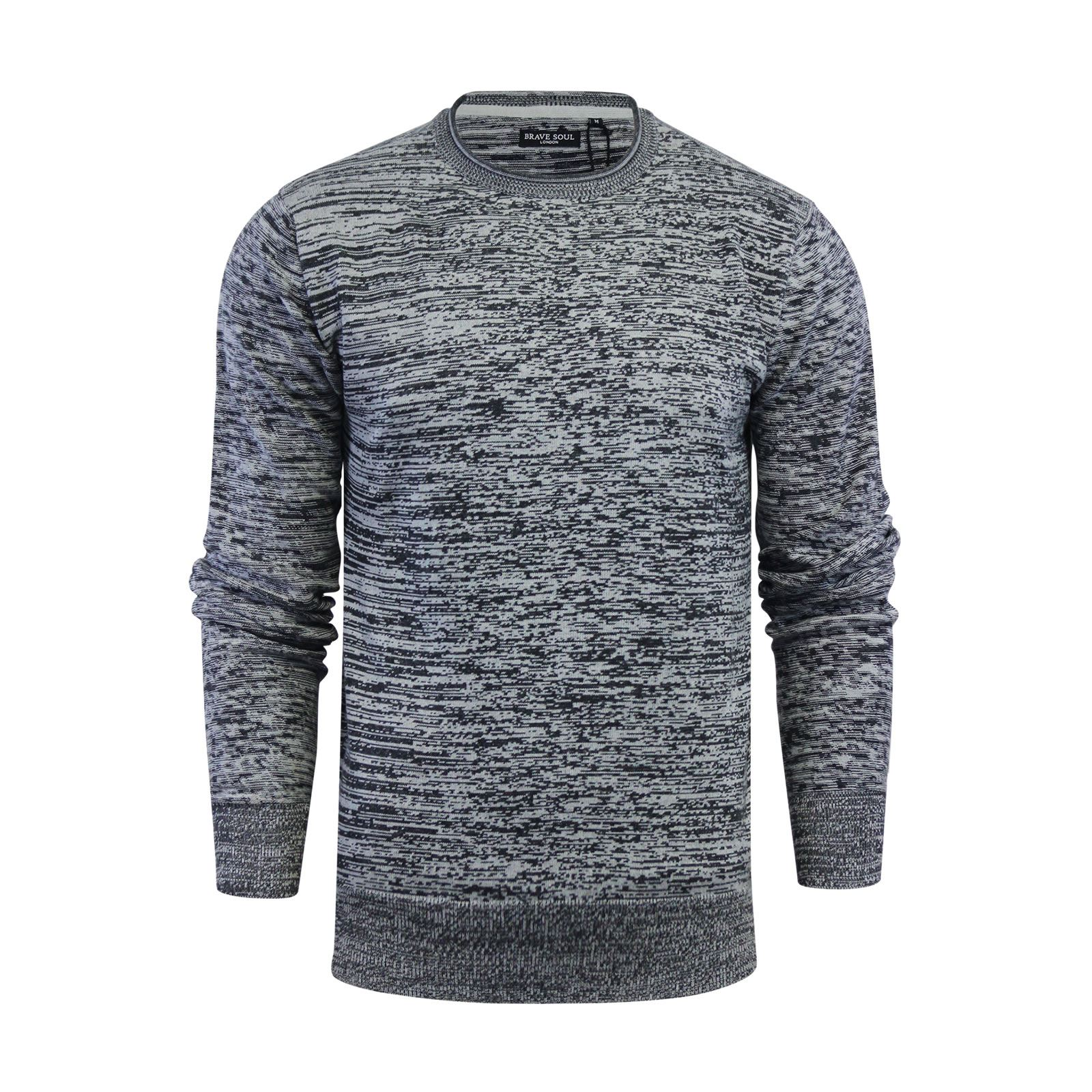 Mens-Jumper-Brave-Soul-Knitted-Sweater-In-Various-Styles thumbnail 12