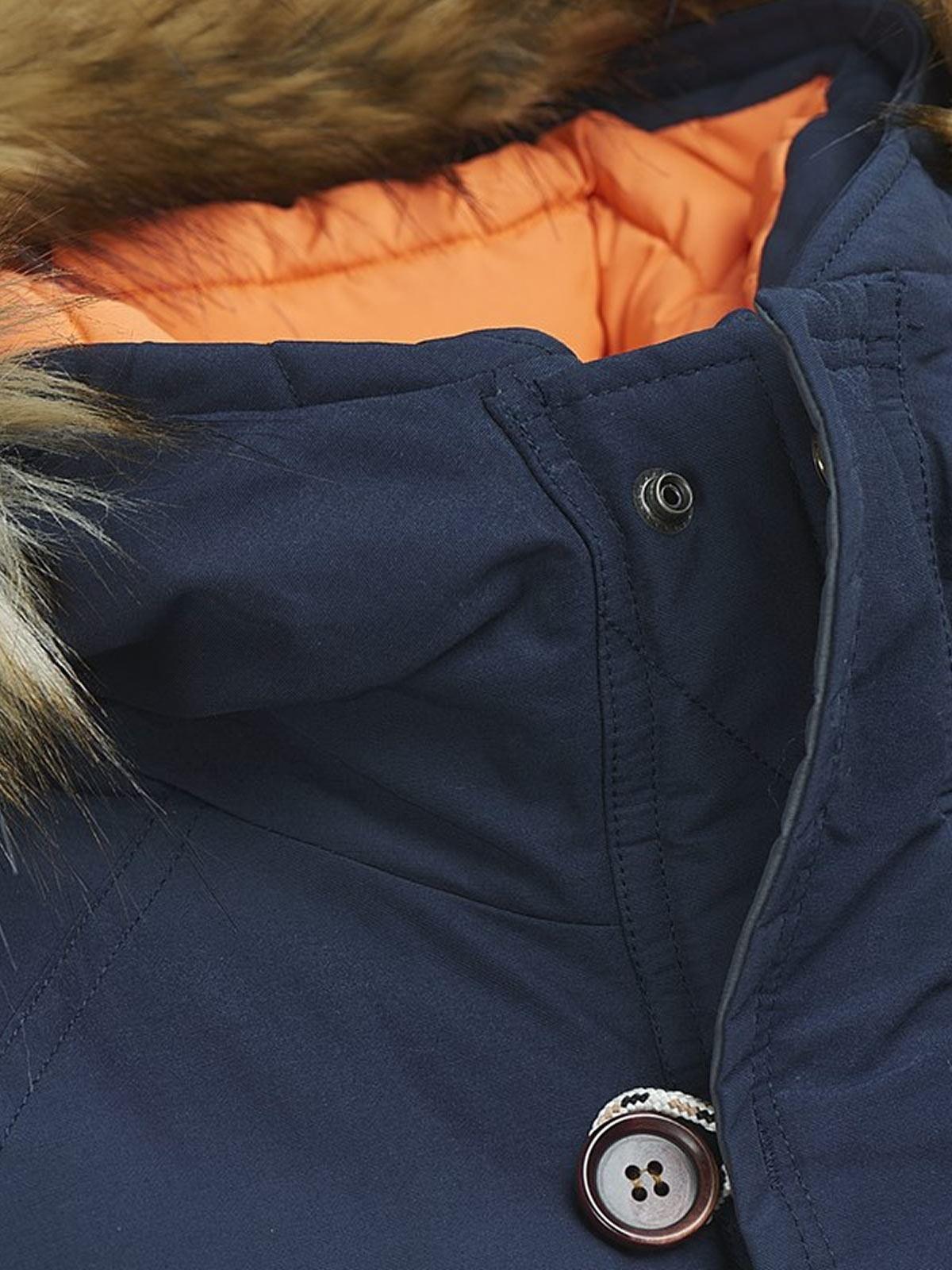 Mens-parka-Chaqueta-Jack-amp-Jones-De-Bosque-Con-Capucha-Abrigo-Cremallera-Sherpa-Linned miniatura 4