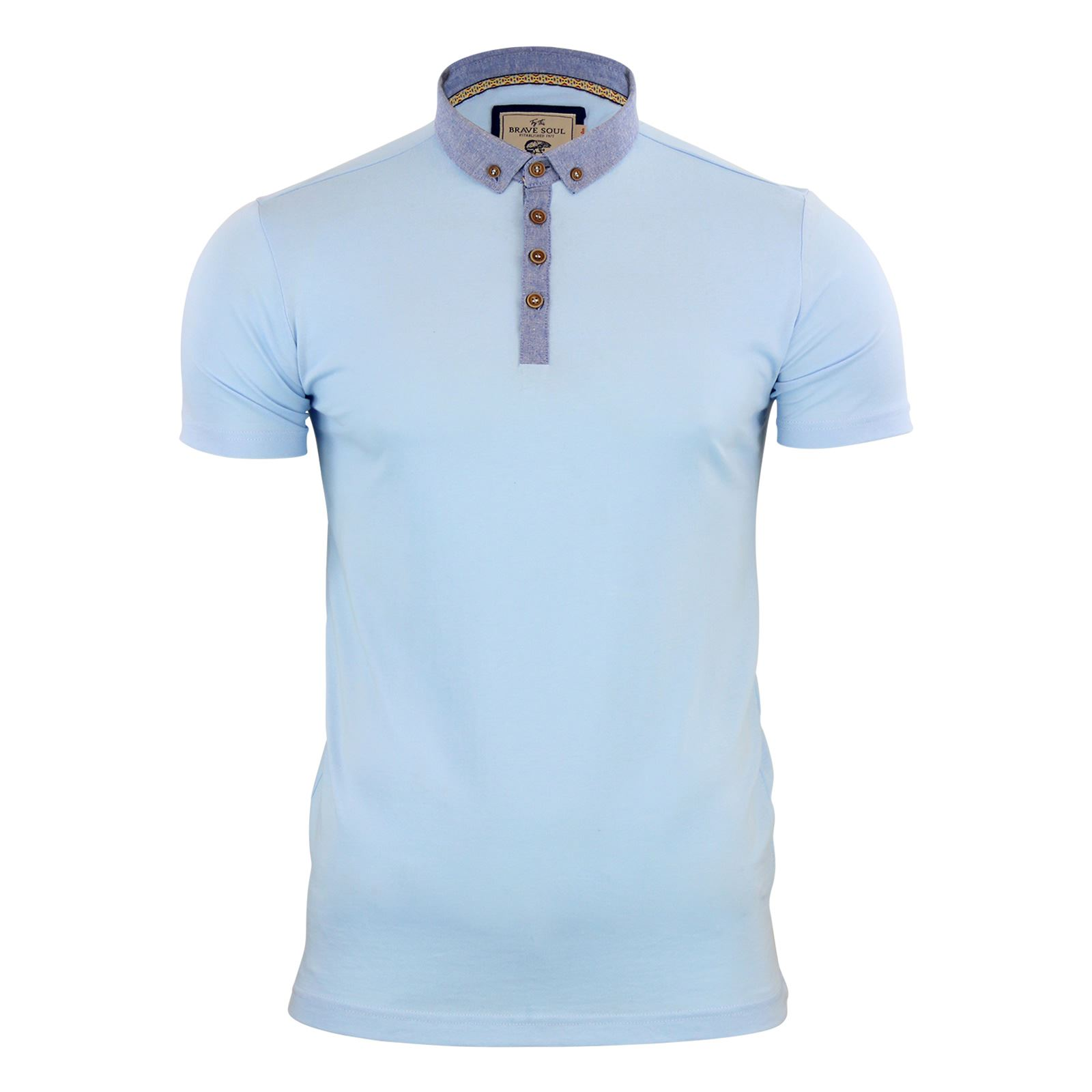 Mens-Polo-T-Shirt-Brave-Soul-Glover-Cotton-Collared-Short-Sleeve-Casual-Top thumbnail 39