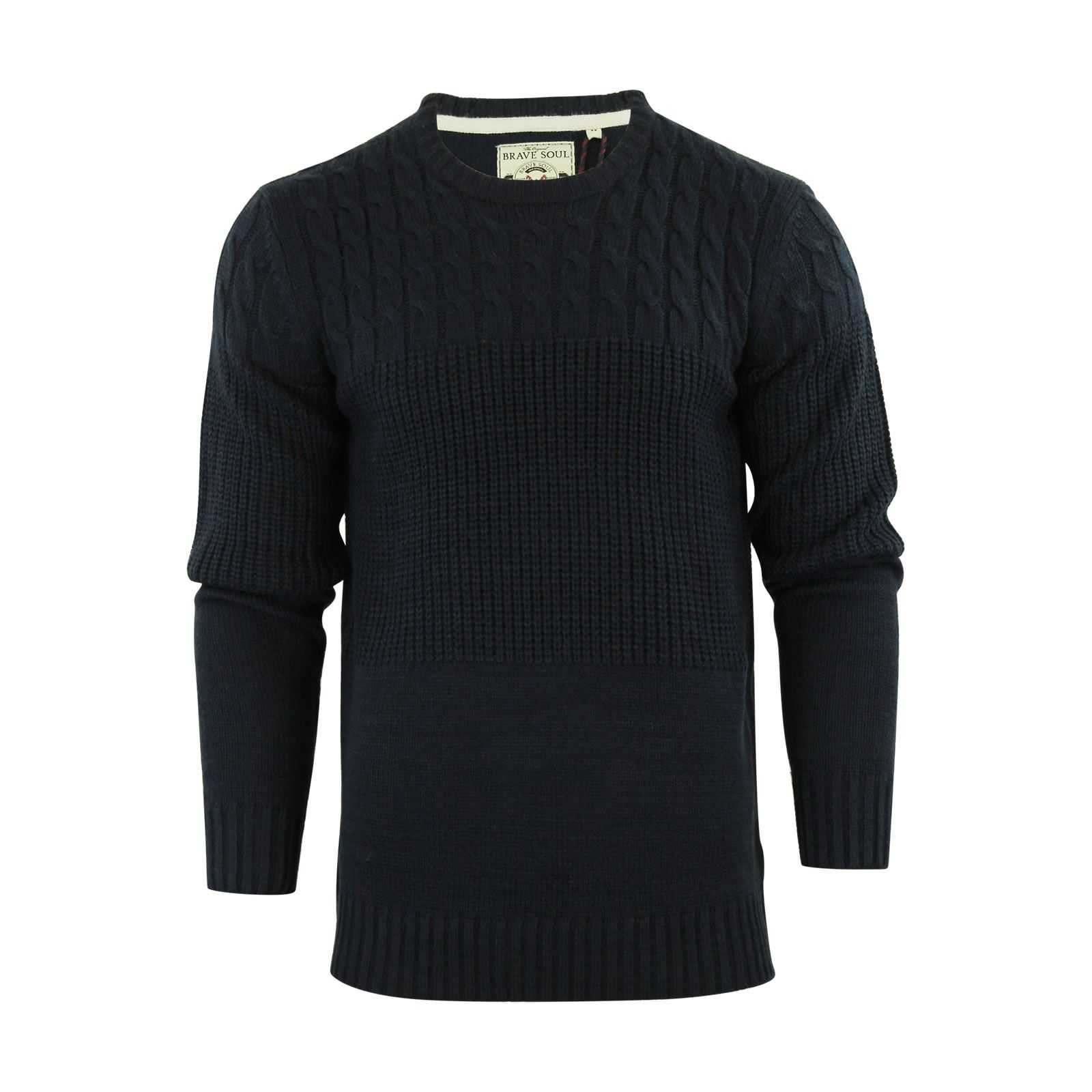 Mens-Jumper-Brave-Soul-Knitted-Sweater-In-Various-Styles thumbnail 104