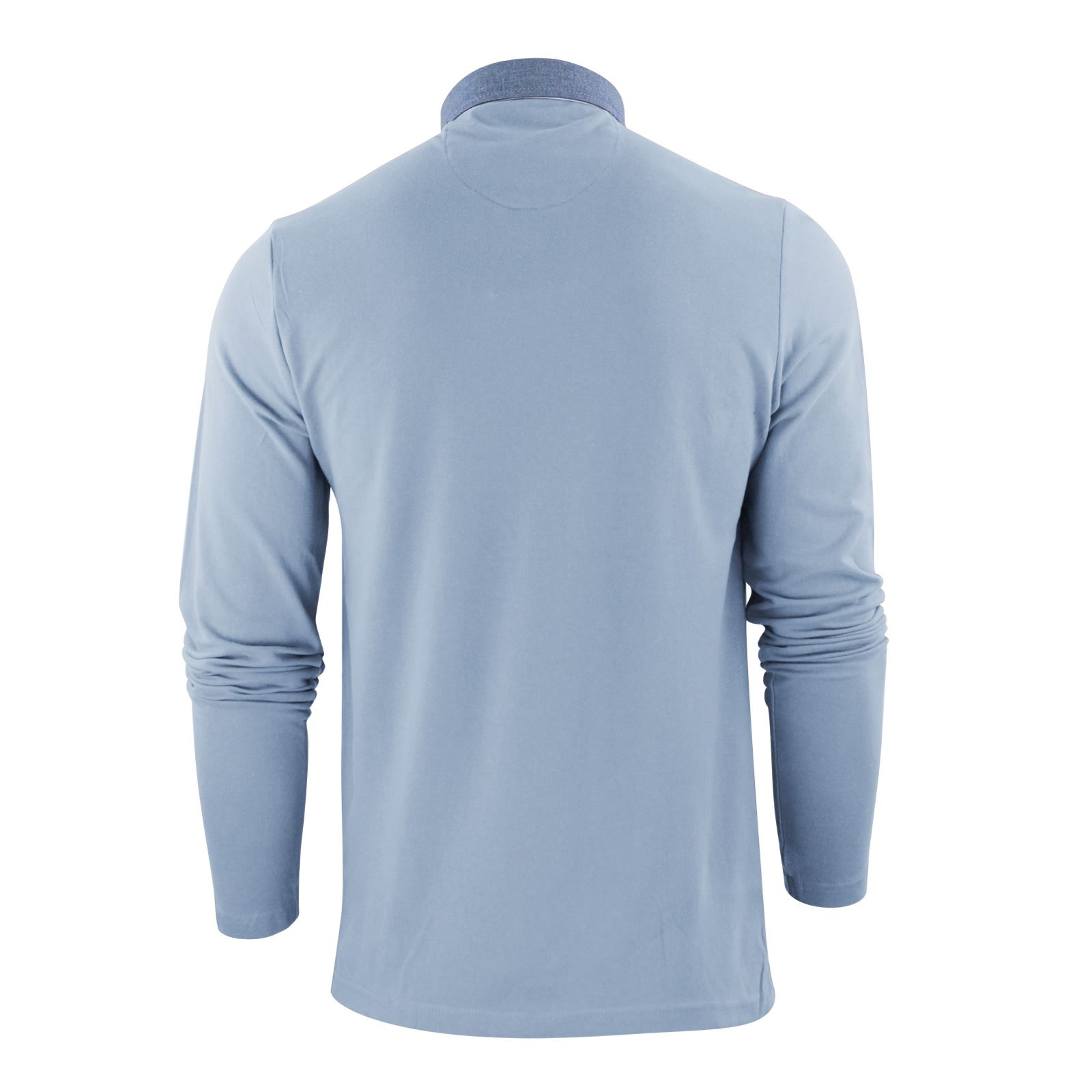 Mens-Polo-T-Shirt-Brave-Soul-Hera-Cotton-Long-Sleeve-Casual-Top thumbnail 24