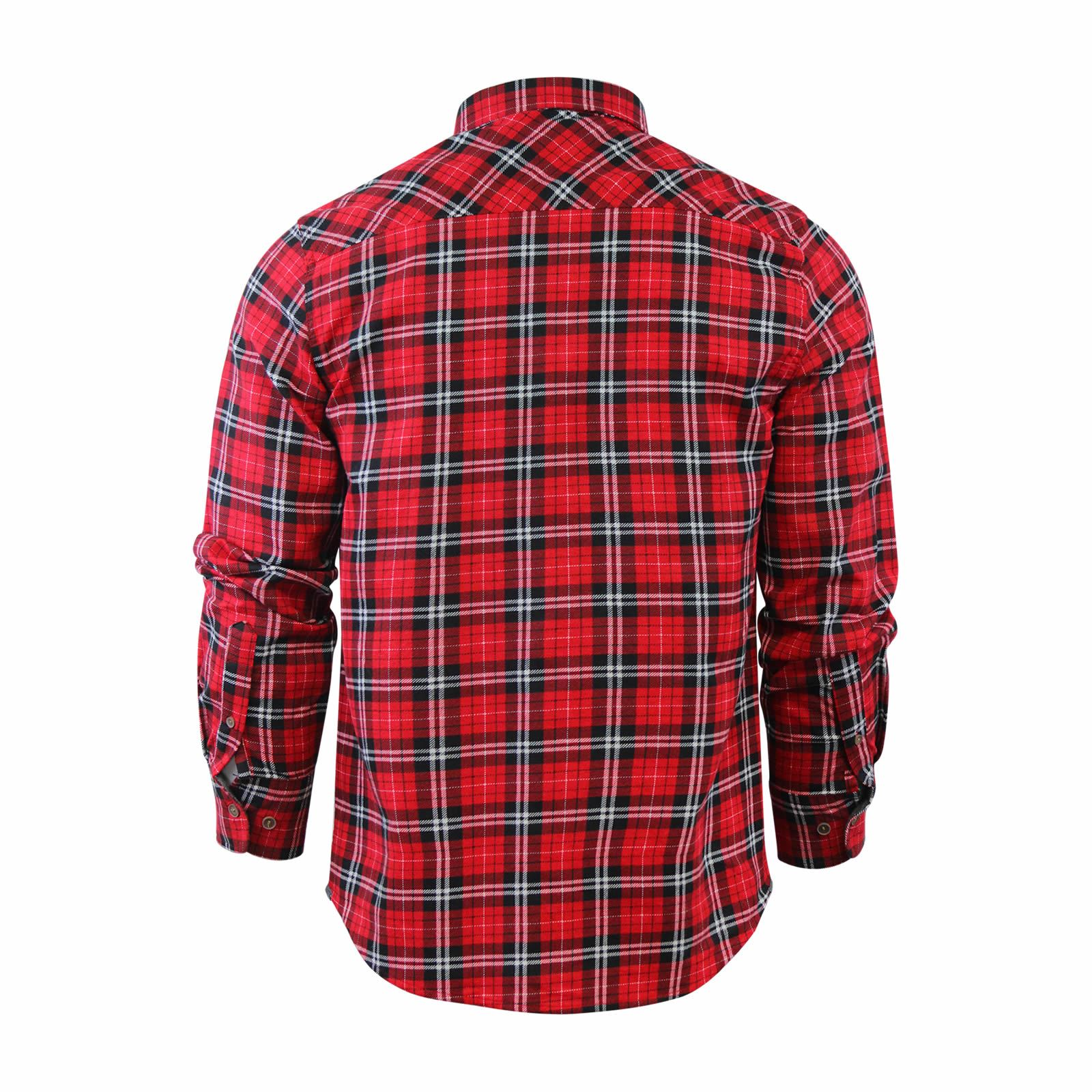 Mens-Check-Shirt-Brave-Soul-Flannel-Brushed-Cotton-Long-Sleeve-Casual-Top thumbnail 83