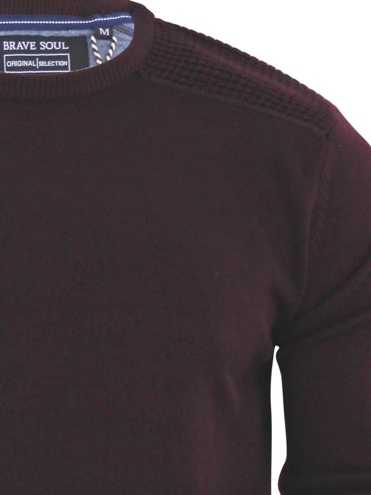 Mens-Jumper-Brave-Soul-Knitted-Sweater-In-Various-Styles thumbnail 75