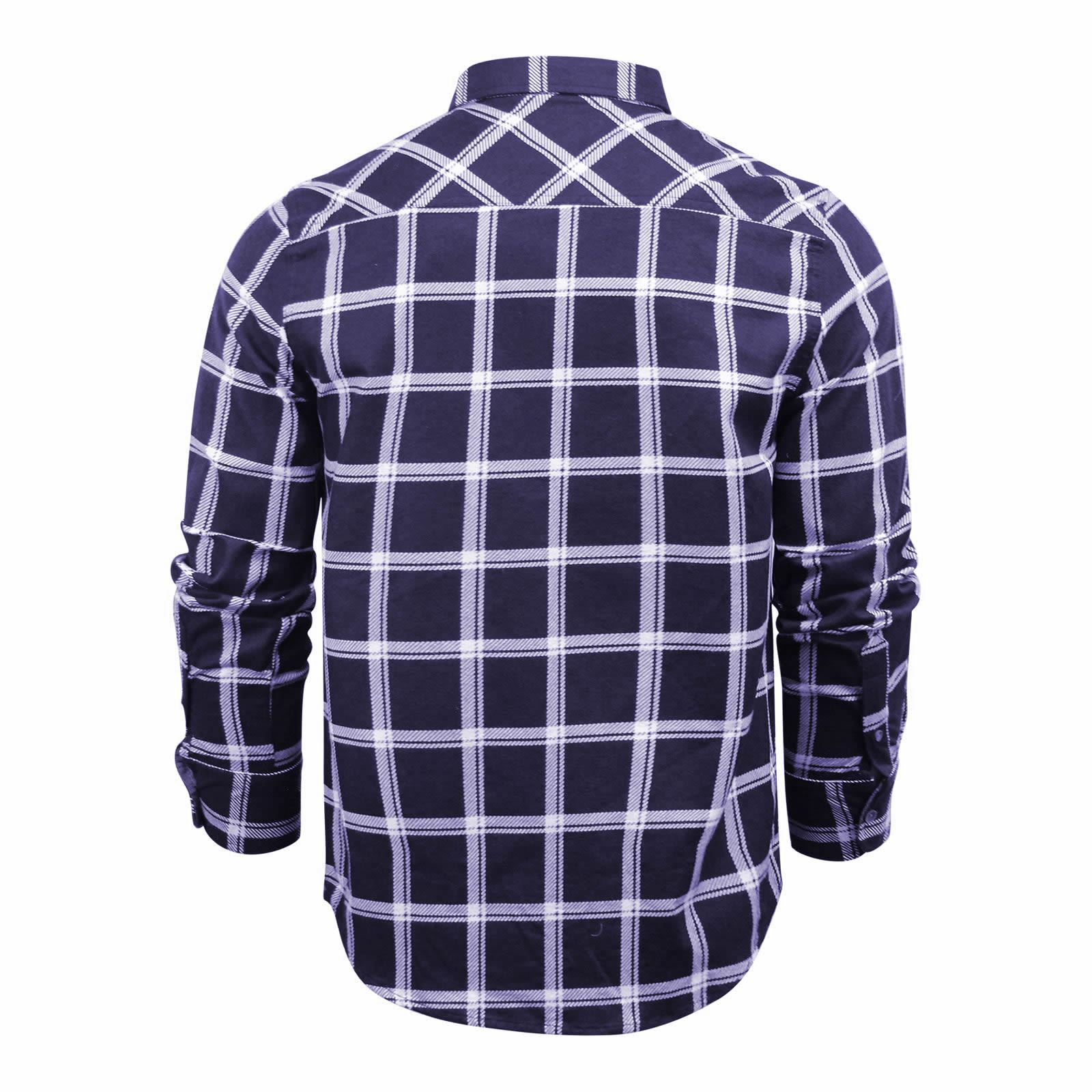 Mens-Check-Shirt-Brave-Soul-Flannel-Brushed-Cotton-Long-Sleeve-Casual-Top thumbnail 105