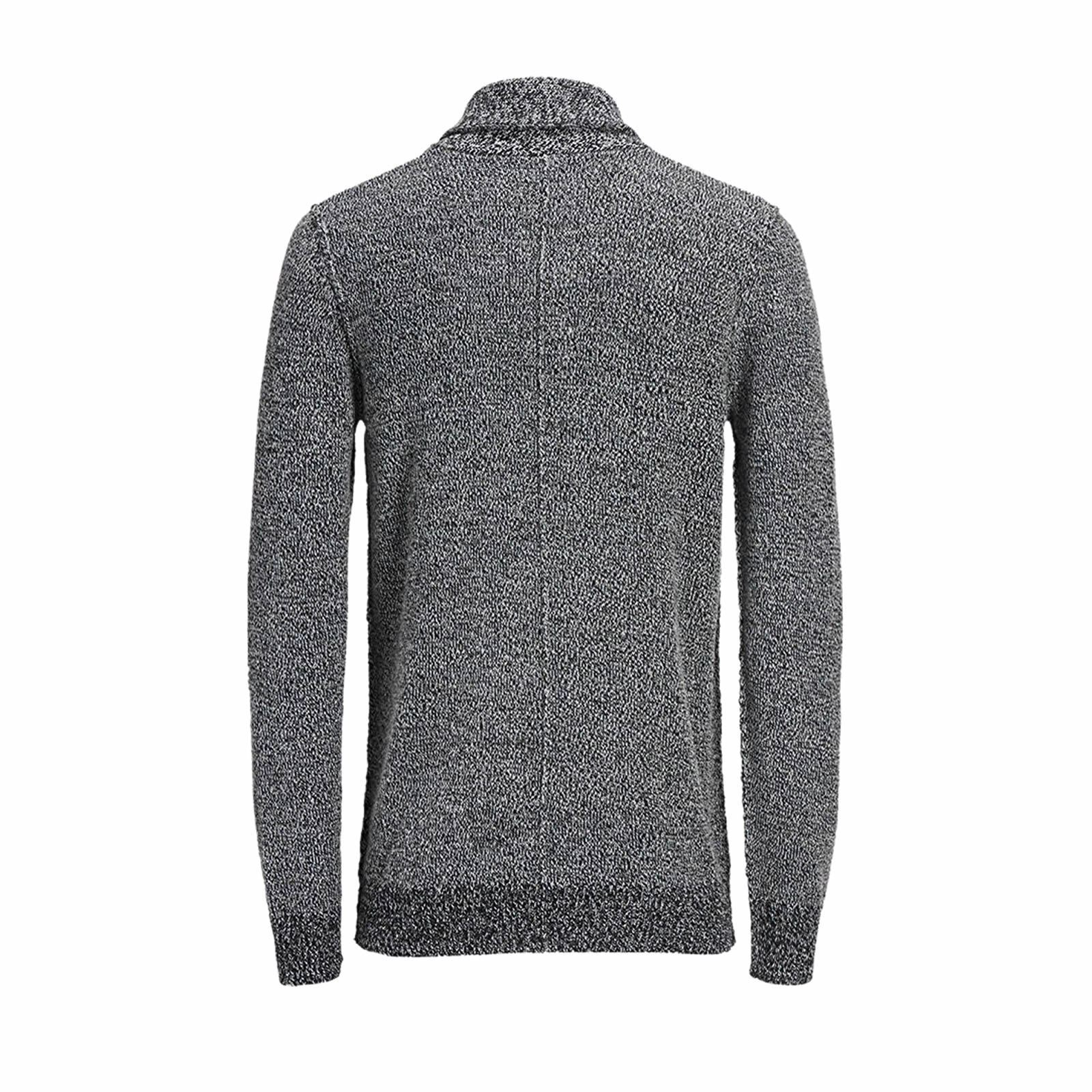 Mens-Cardigan-Jumper-JACK-amp-JONES-Instinct-Shawl-Neck-Button-Up-Sweater thumbnail 3