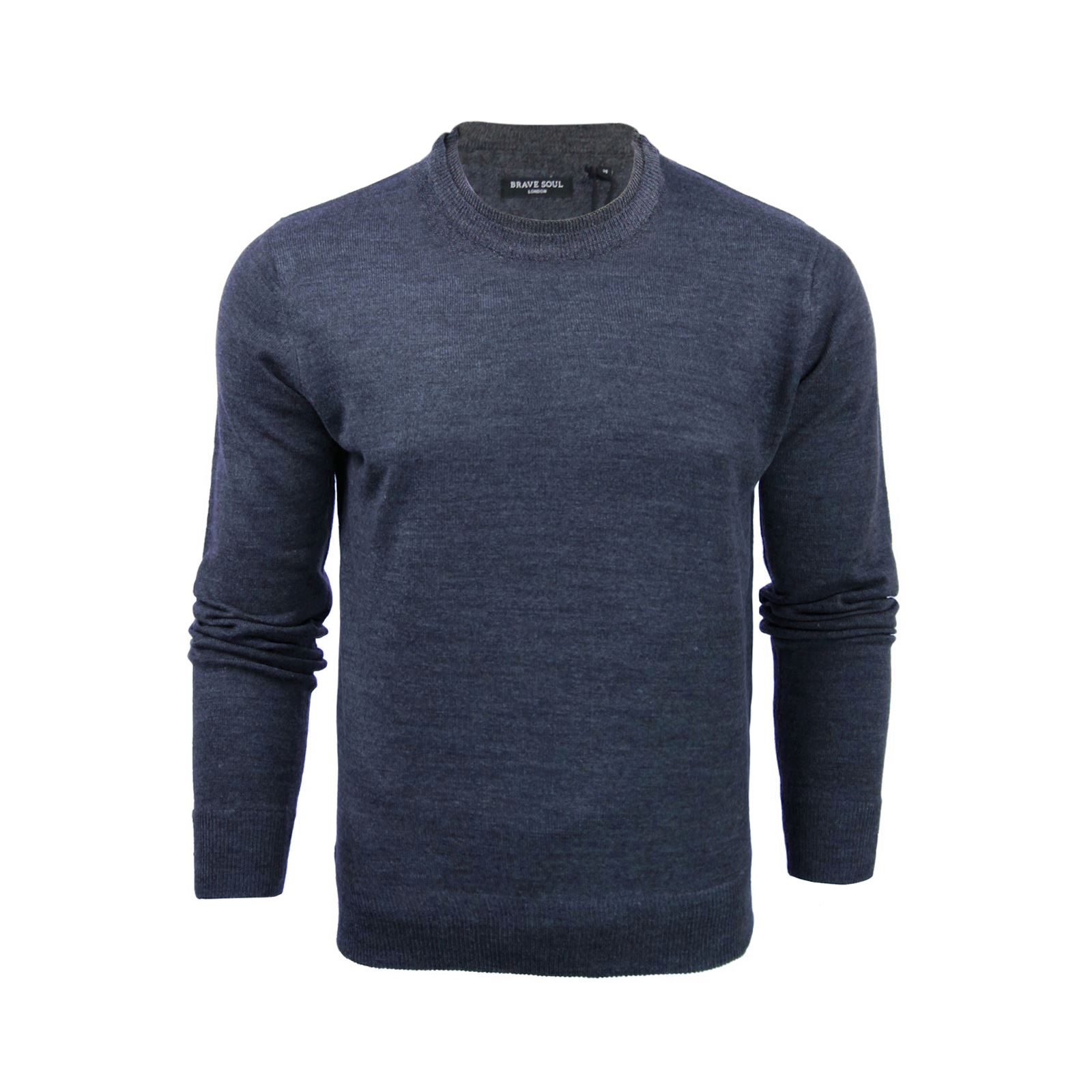 Mens-Jumper-Brave-Soul-Knitted-Sweater-In-Various-Styles thumbnail 4