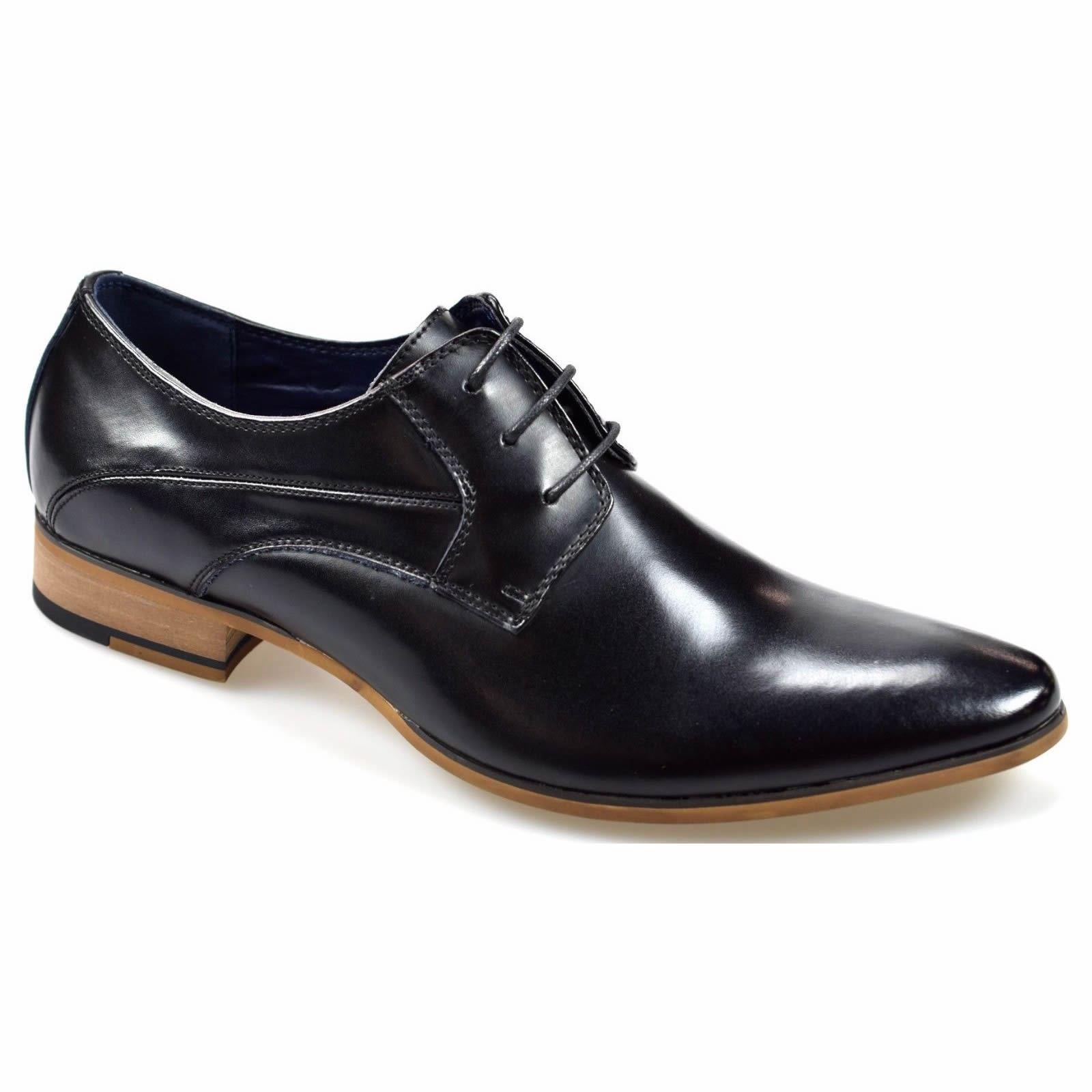 Zapatos para hombres Cavani Roux Formales Cuero Inteligente Con Cordones Brouges